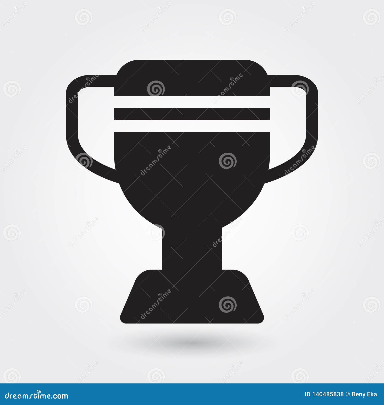 Icône de vecteur de trophée, icône de champion de sports, symbole de gagnant de sports Glyph moderne et simple, vecteur solide