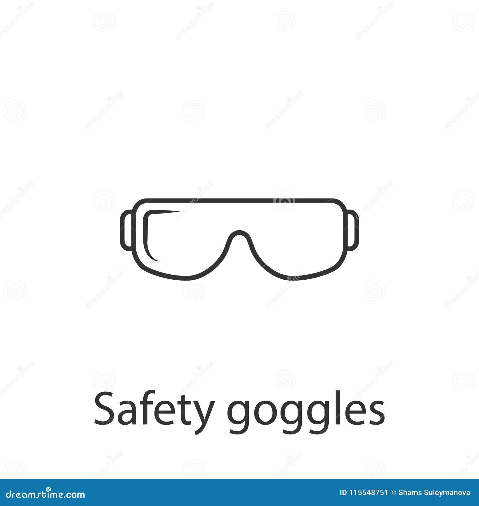 Icône de verres de sûreté Illustration simple d élément Conception de symbole de verres de sûreté d ensemble de collection de con
