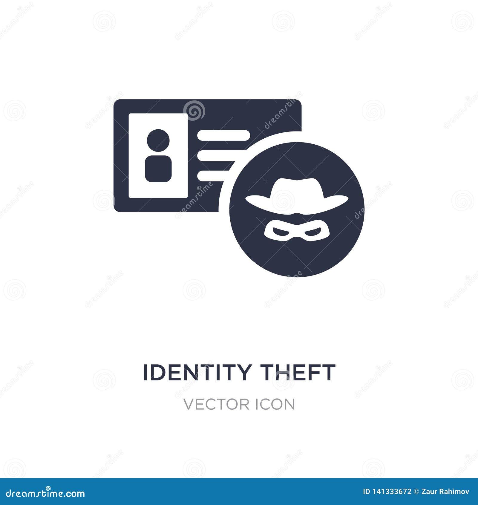 Icône de vol d identité sur le fond blanc Illustration simple d élément de concept de Cyber