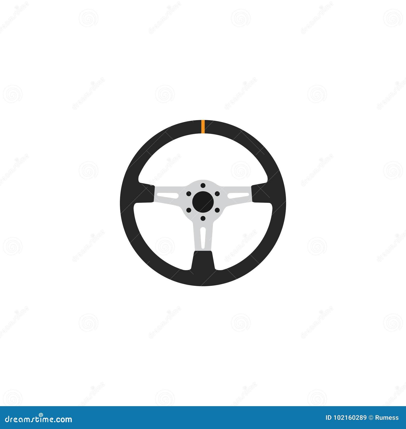 Icône de volant de vecteur