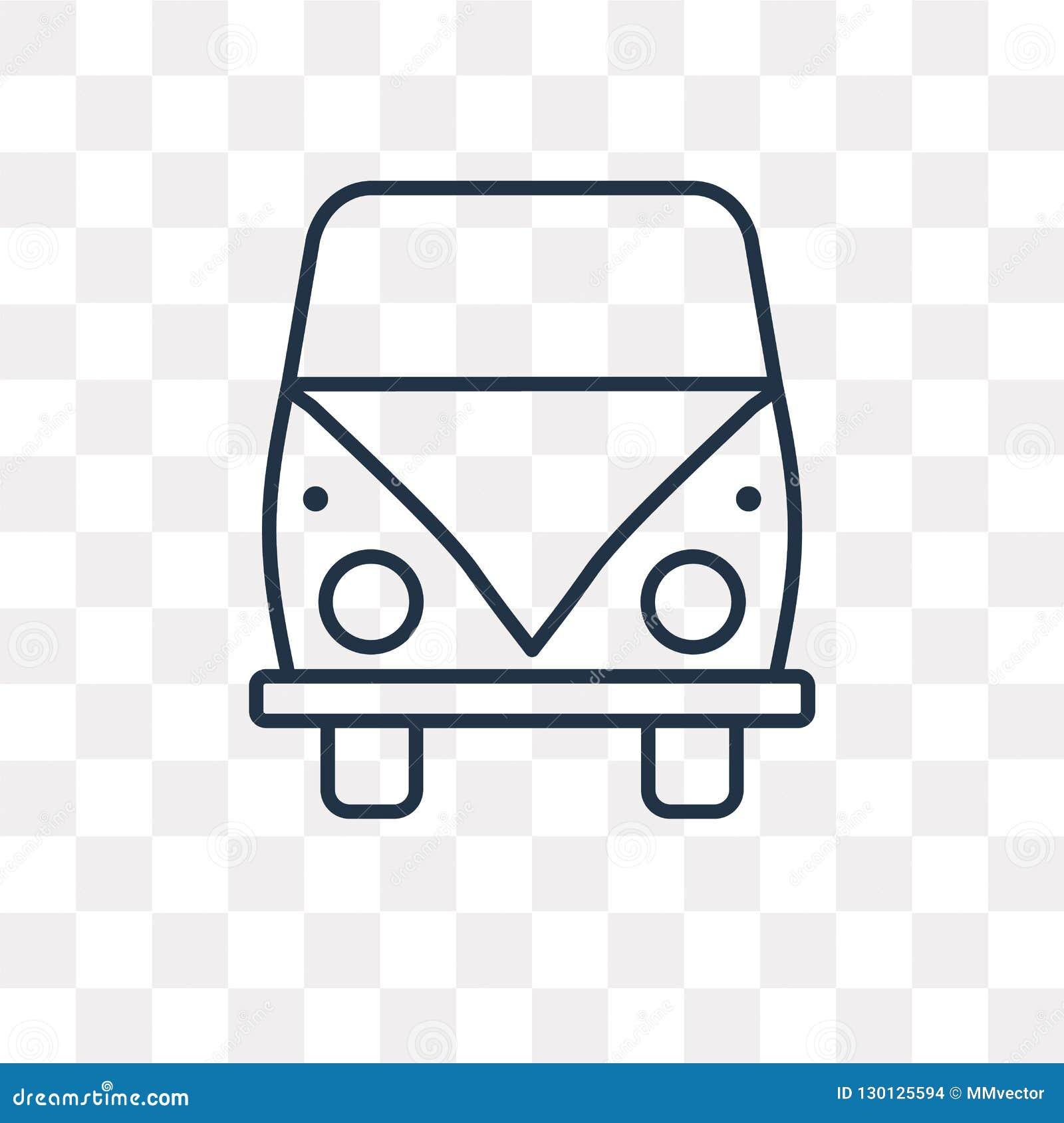 Icône de Volkswagen van vector d isolement sur le fond transparent, l