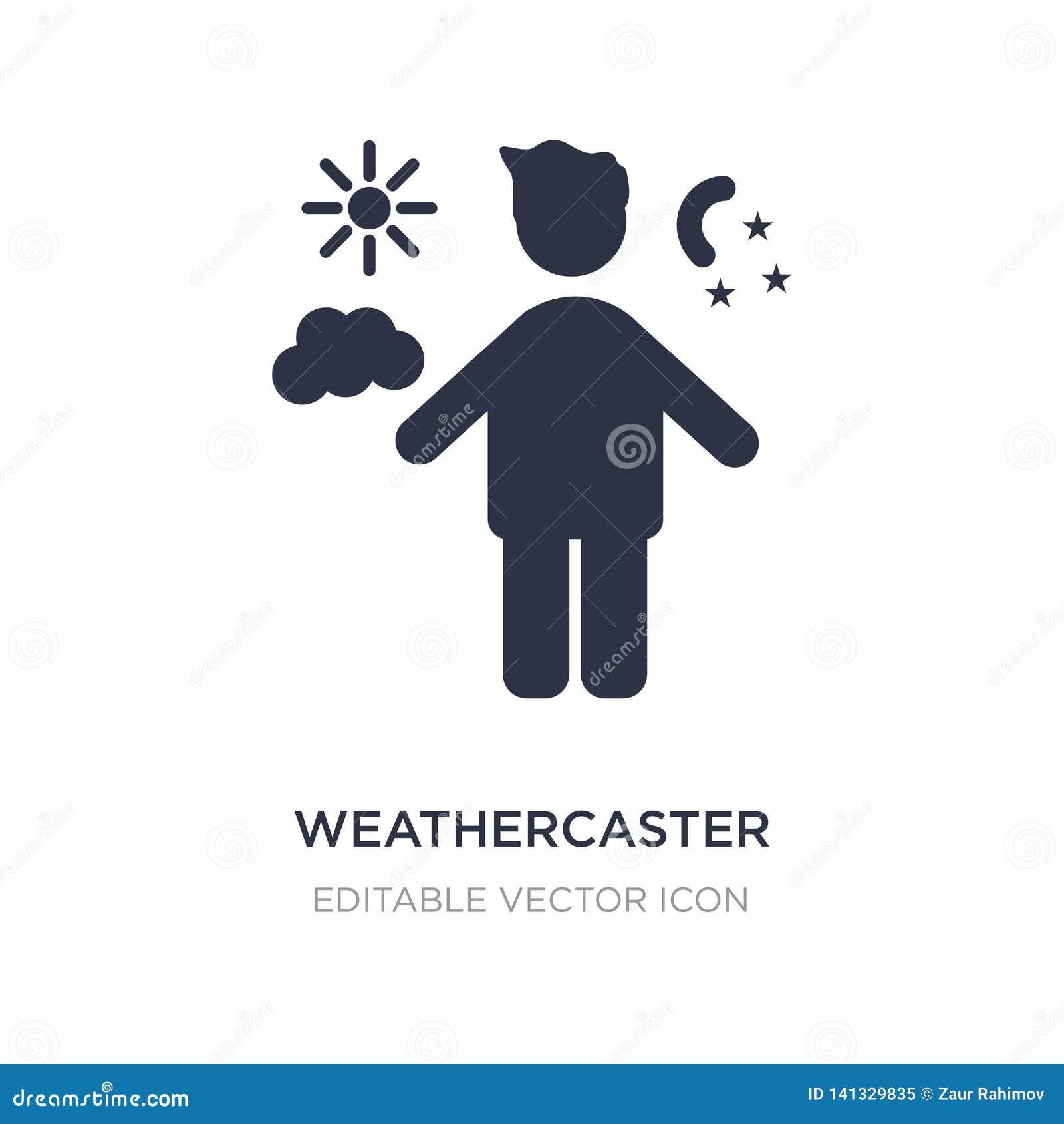 Icône de weathercaster sur le fond blanc Illustration simple d élément de concept de personnes