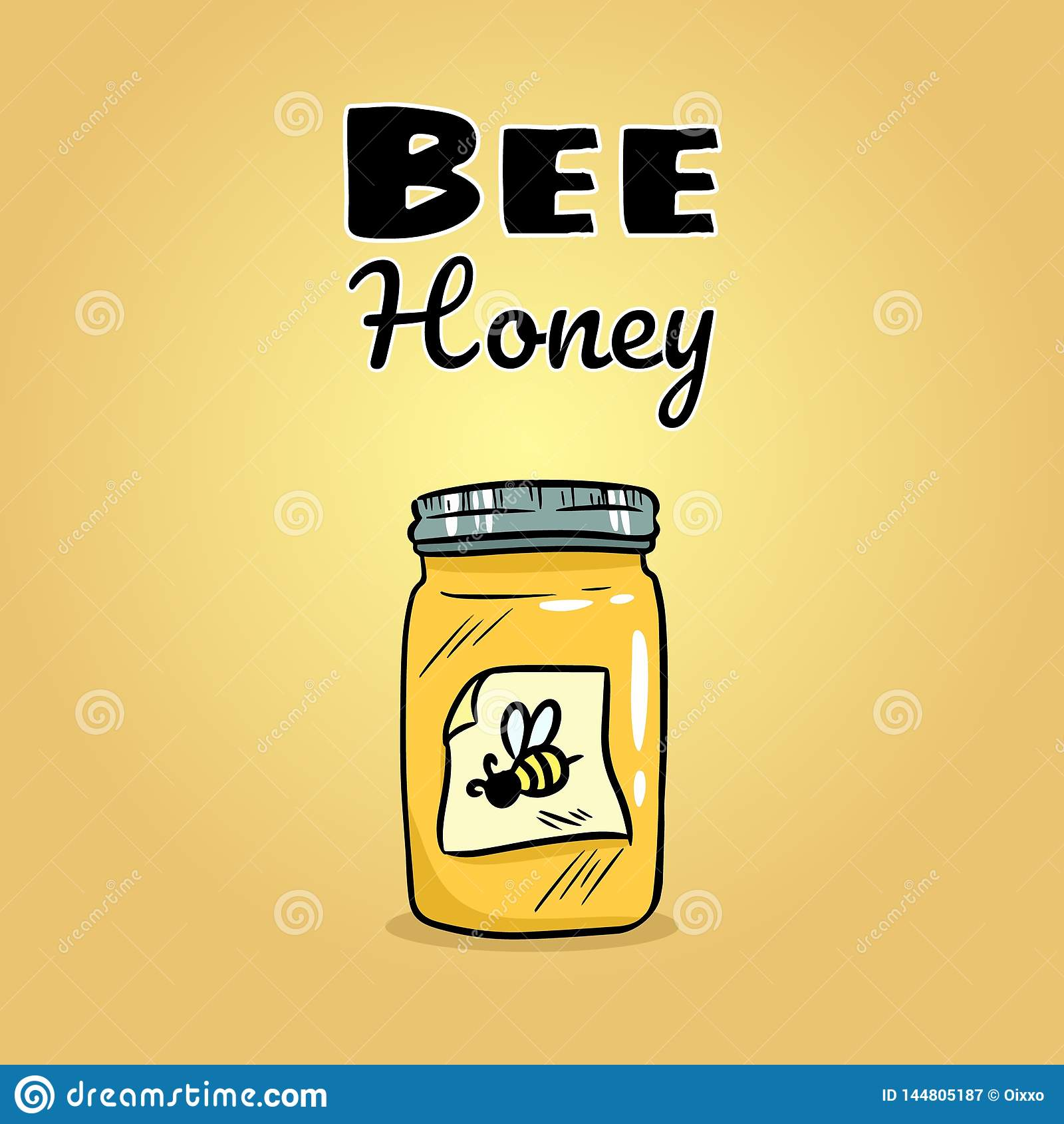 Icône de Web de pot de miel d abeille Image de logo de style de bande dessinée de vecteur