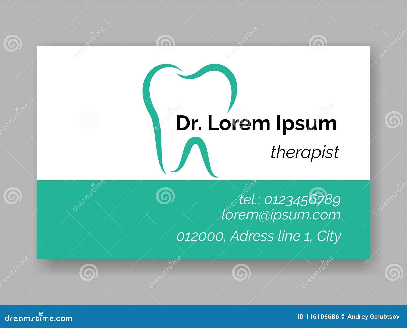 Icne Dentaire De Logo De Dent Pour La Carte De Visite