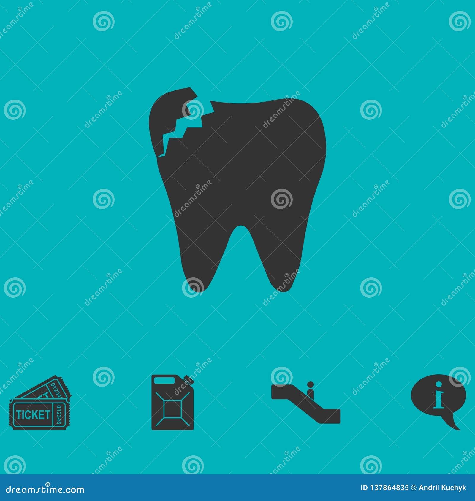 Icône dentaire de problème à plat
