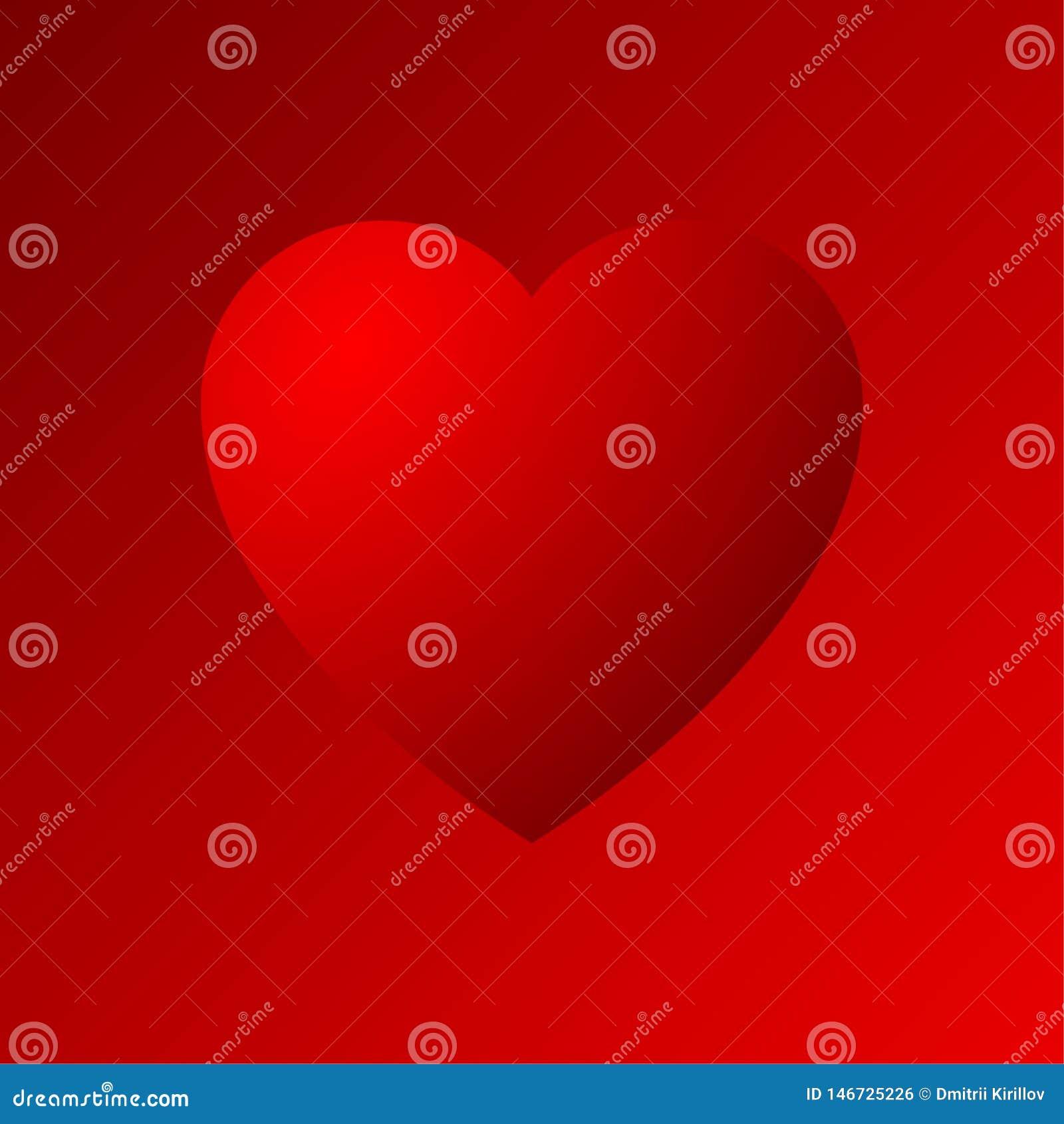 Icône dradient de coeur rouge