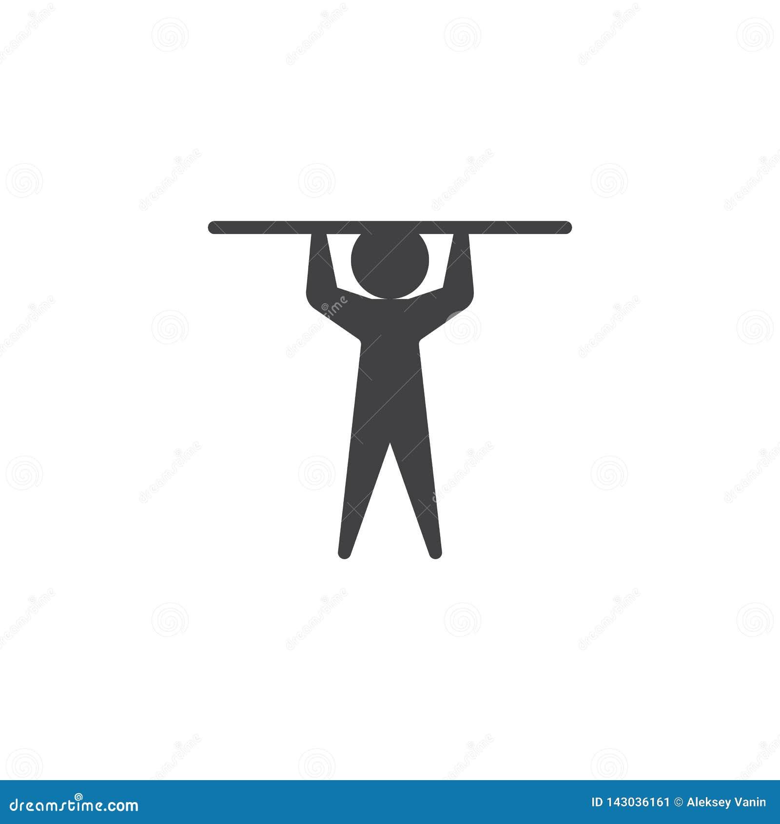 Icône en hauteur de vecteur d athlétisme de chambre forte de Polonais