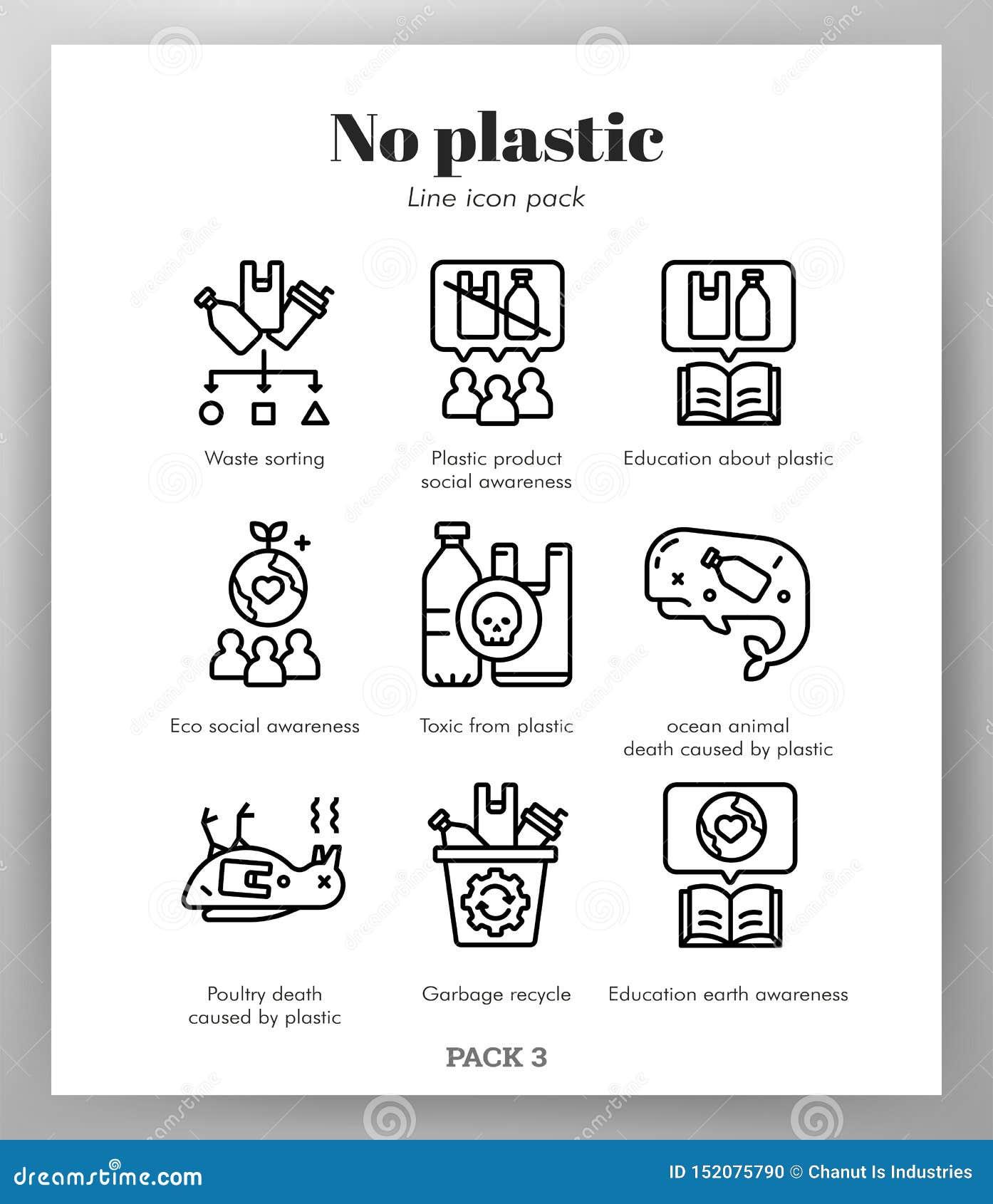 Icône en plastique ne raye pas le paquet