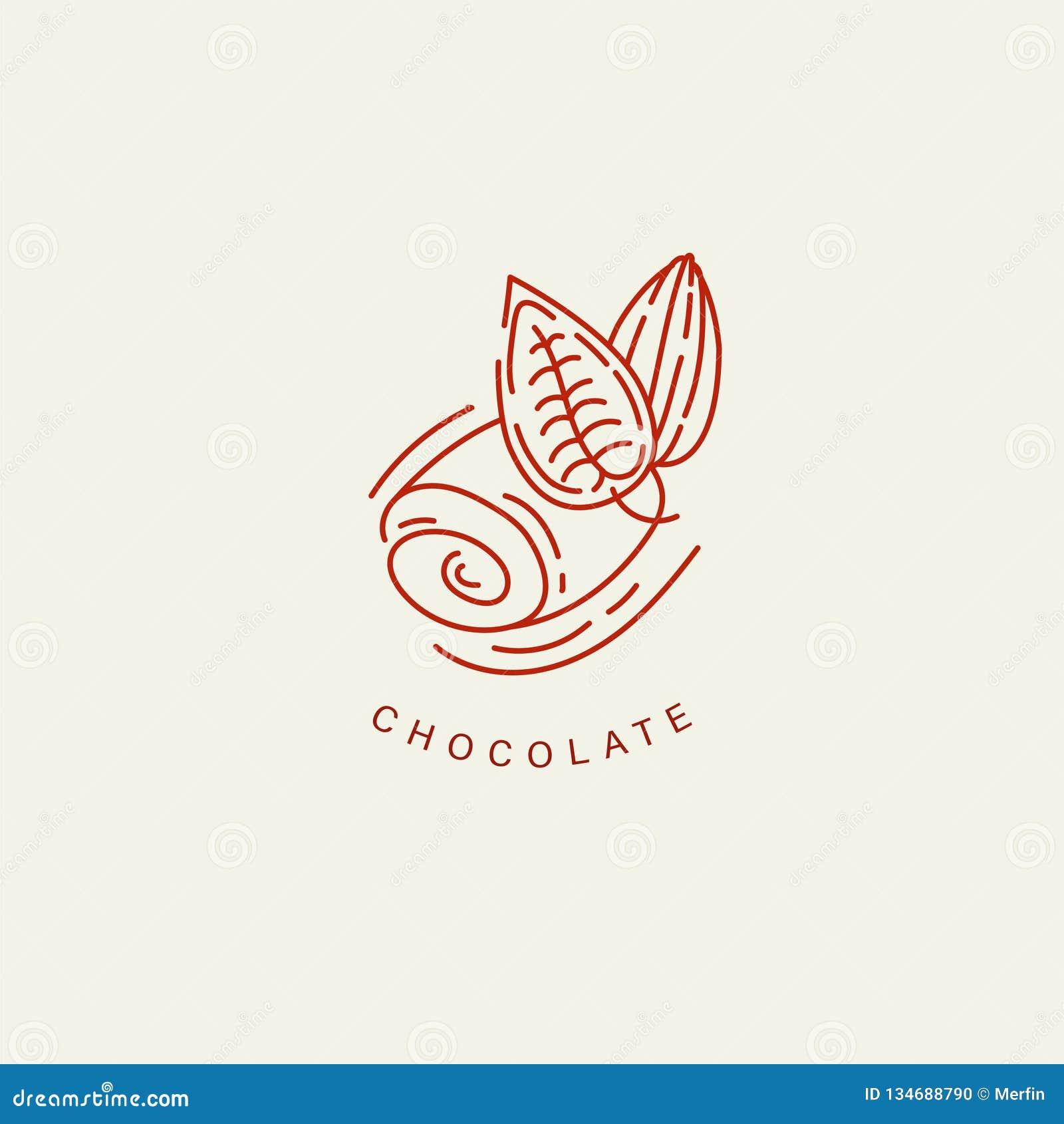 Icône et logo de vecteur pour le chocolat et le bonbon