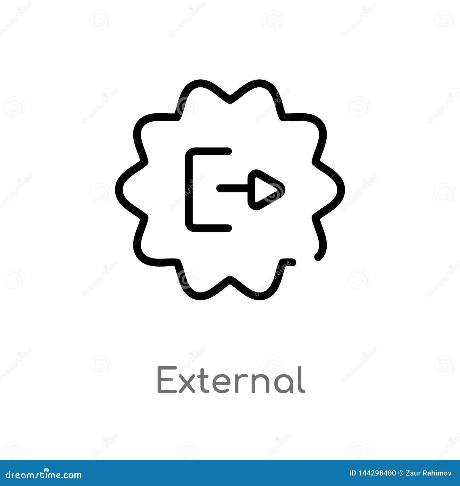 Icône externe de vecteur d ensemble r Course Editable de vecteur