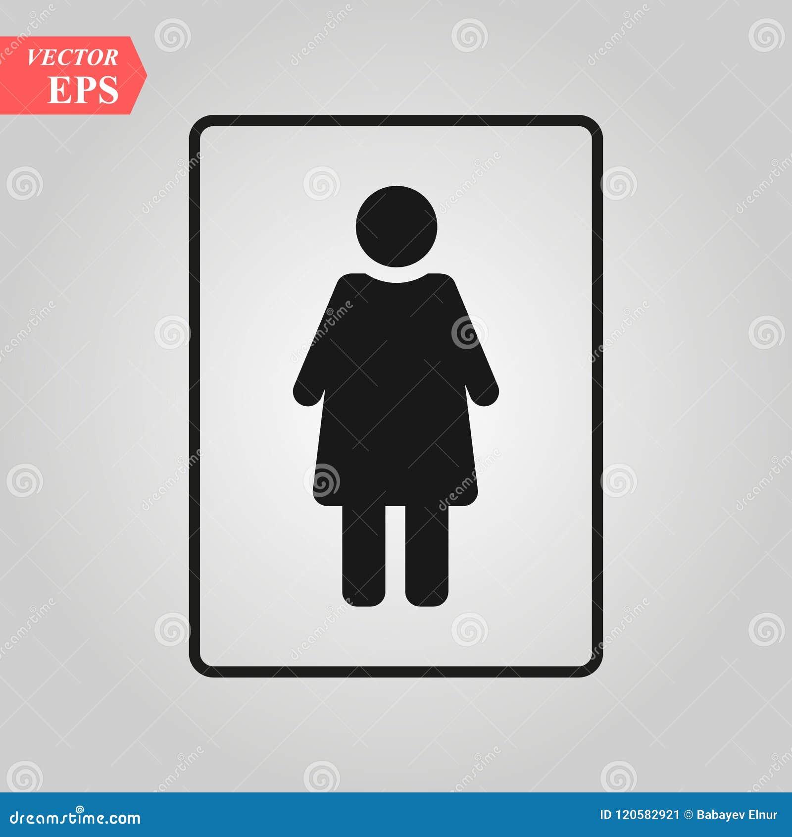Icône Femelle De Vecteur Vecteur Dicône De Toilette De Femme Sexe
