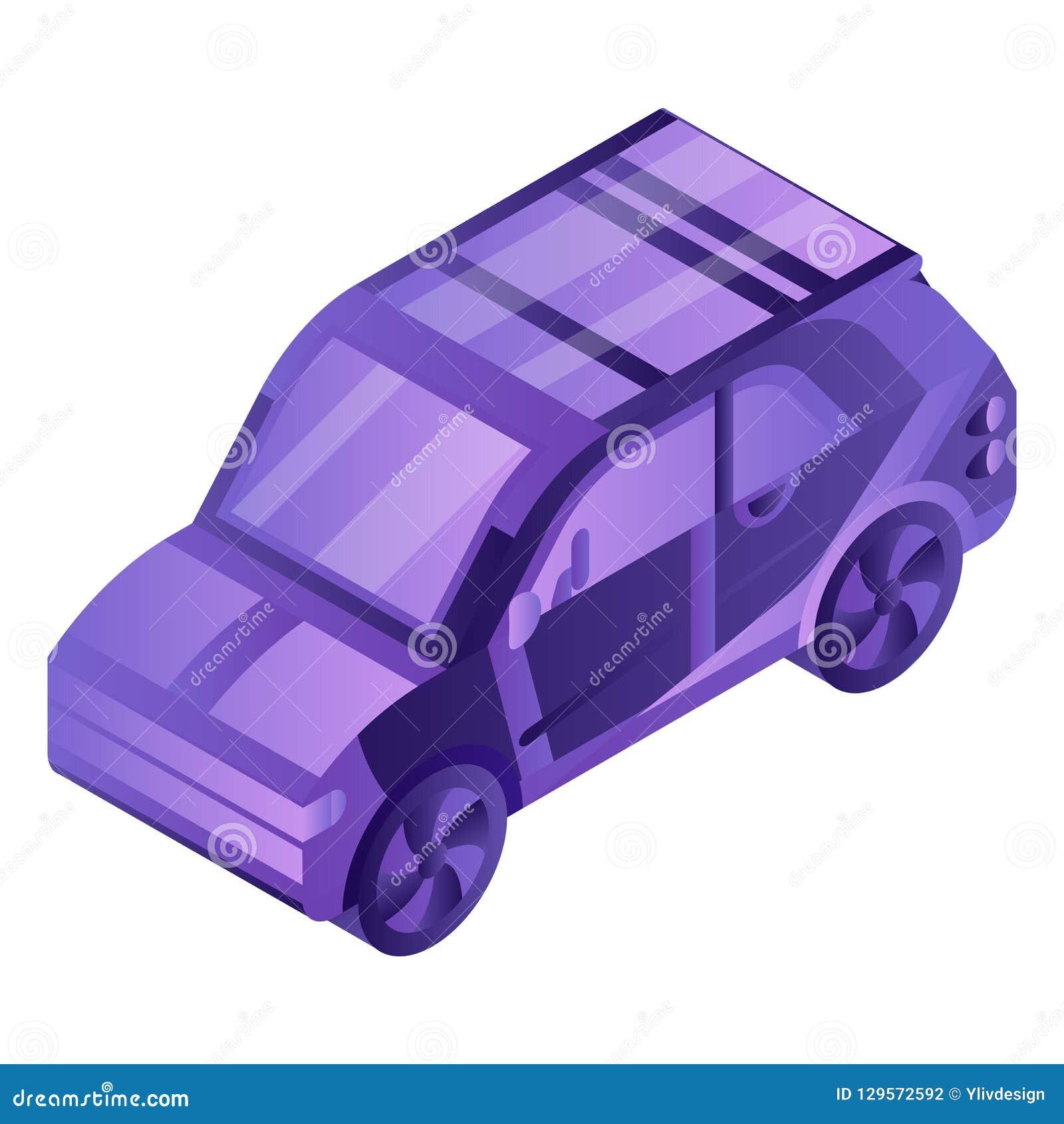 Icône futée de voiture électrique, style isométrique