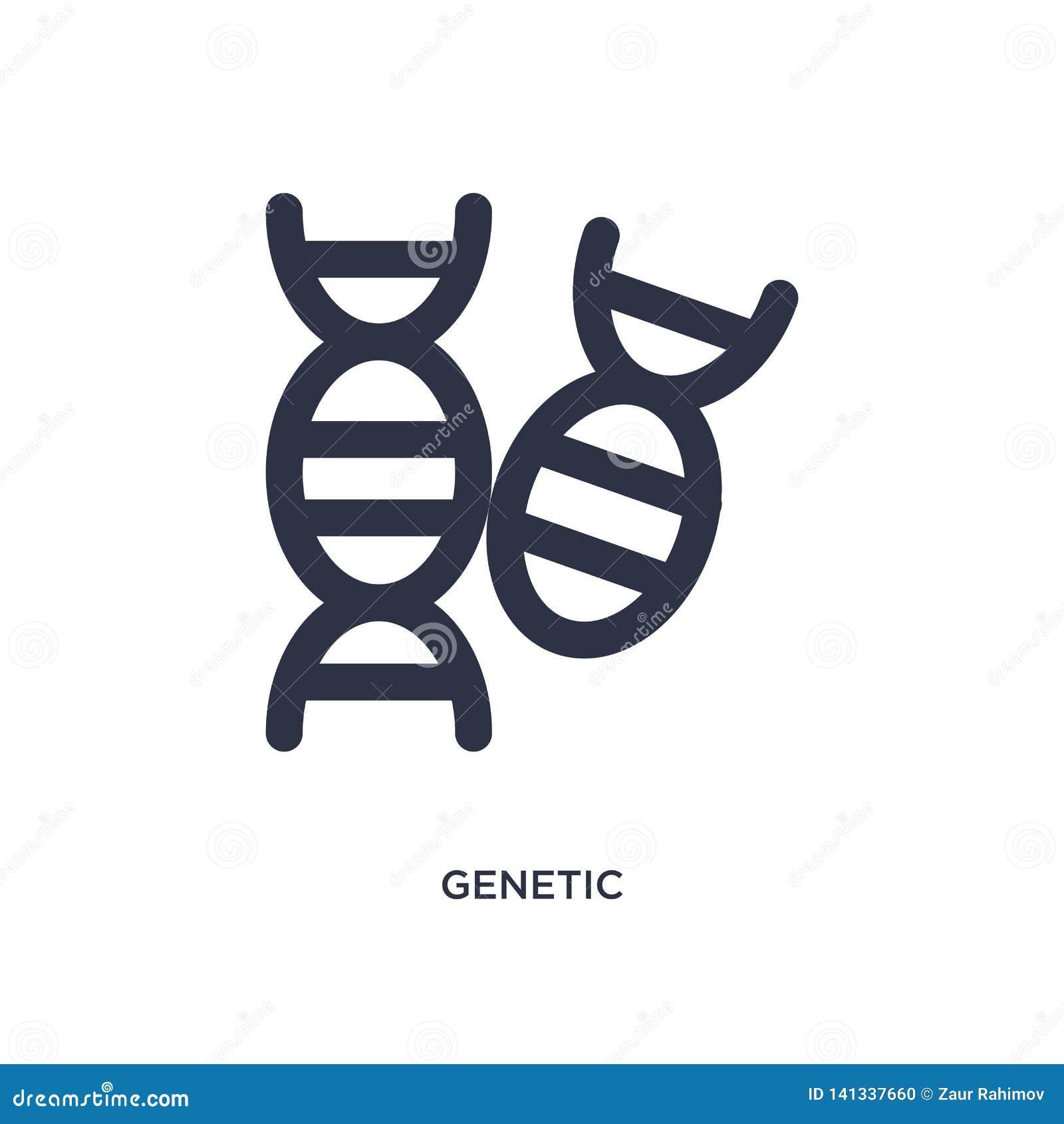 Icône génétique sur le fond blanc Illustration simple d élément de concept de chimie
