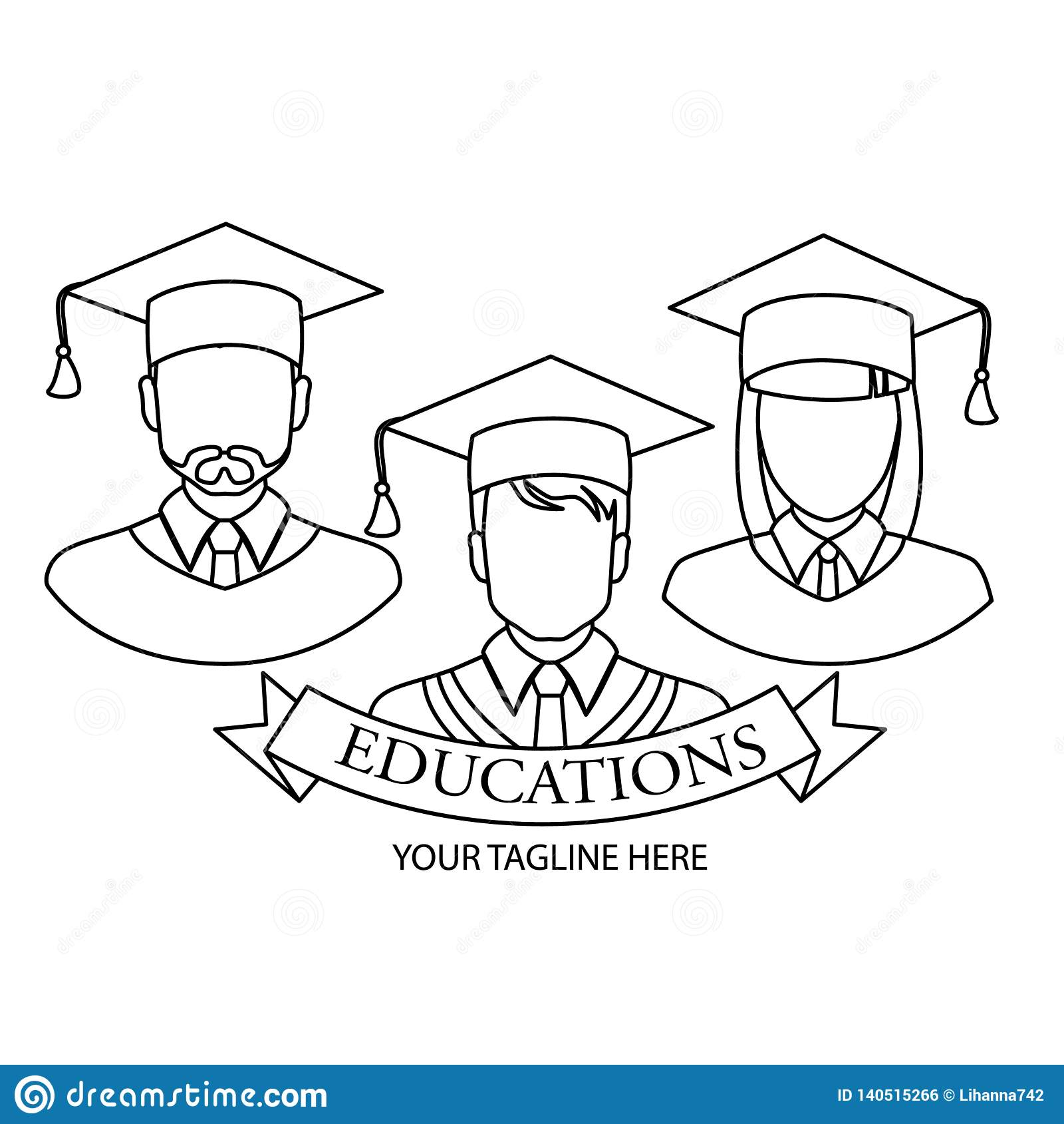 Icône graduée Conception linéaire graduée de symbole de collection de personnes Illustration simple de vecteur d élément d ensemb