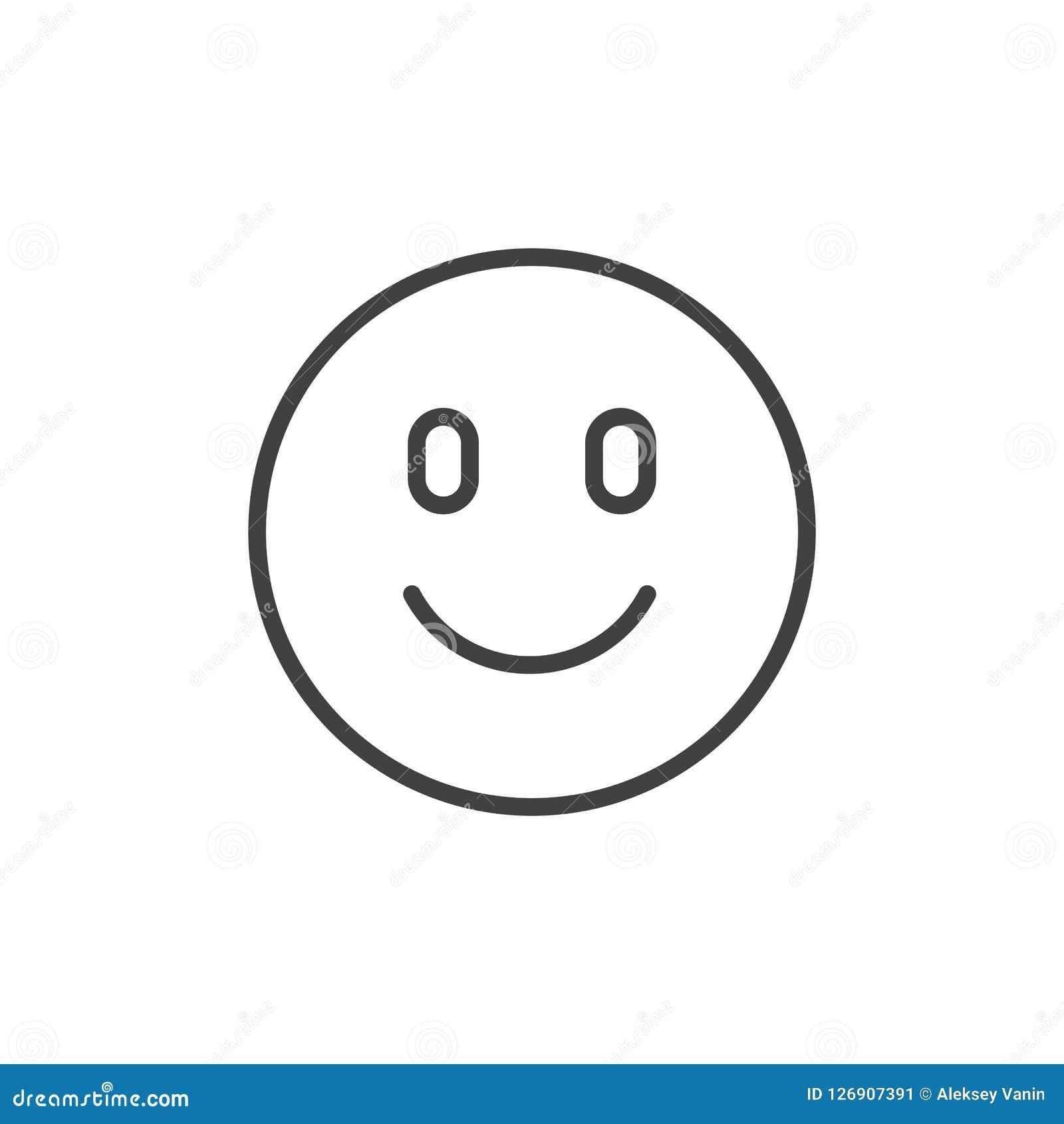 Icône heureuse d ensemble d emoji de visage
