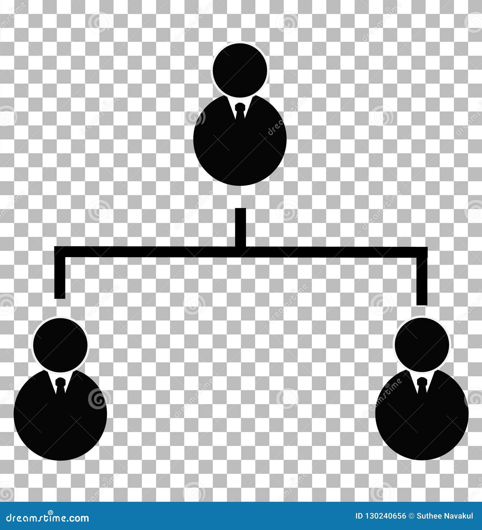 Icône hiérarchique d affaires sur le fond transparent affaires h