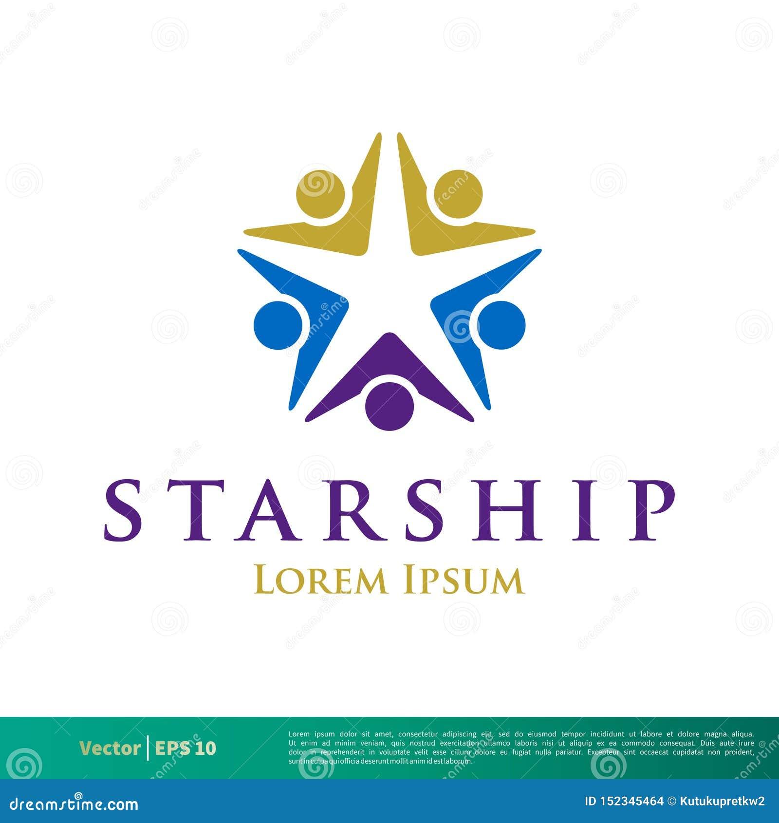 Icône humaine Logo Template Illustration Design de vecteur d étoile de forme Vecteur ENV 10