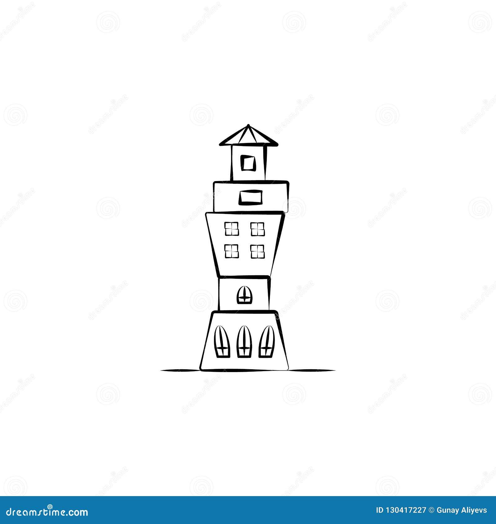 Icône imaginaire de maison élément dicône imaginaire tirée par la