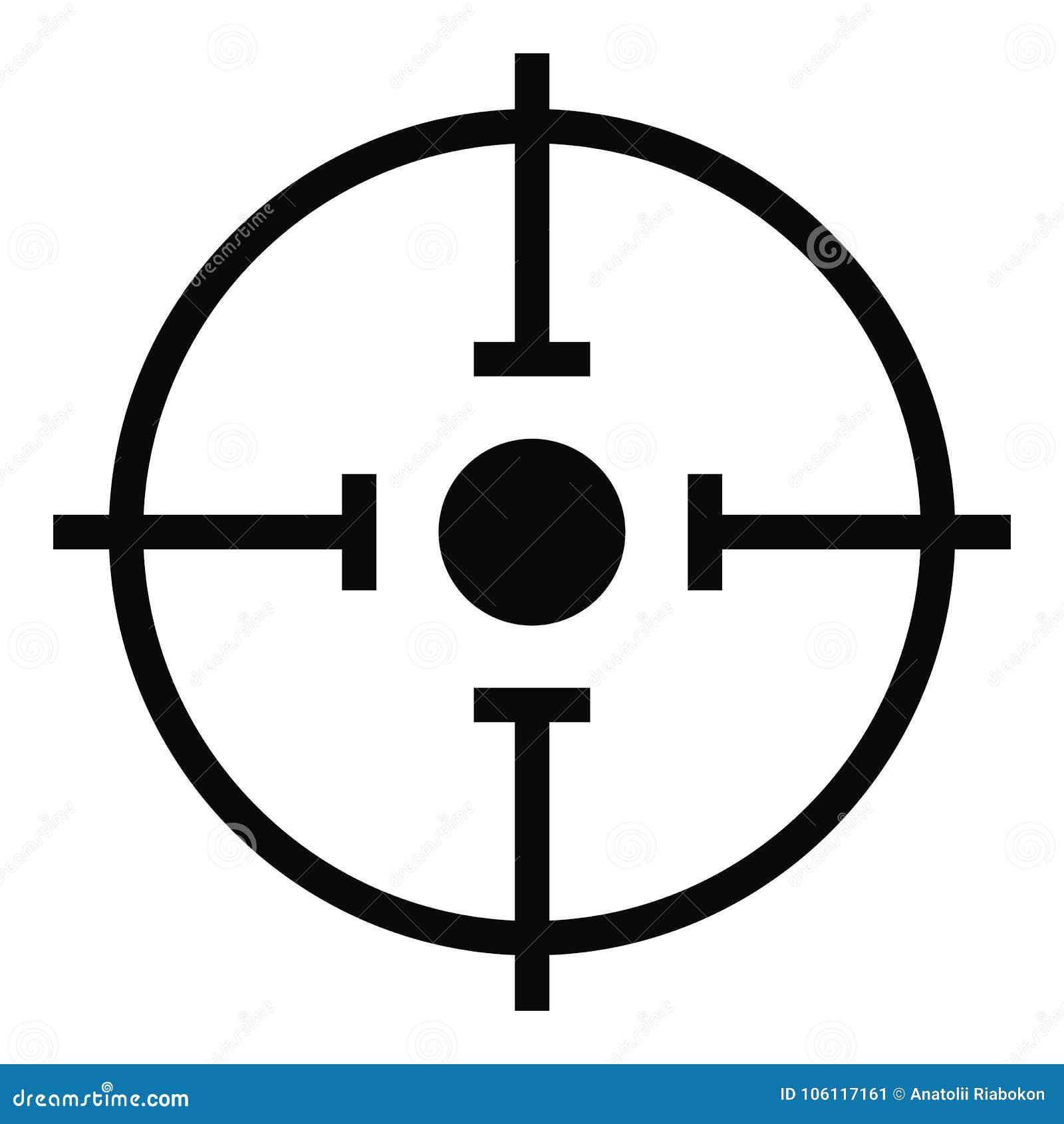 Icône importante de cible, style simple