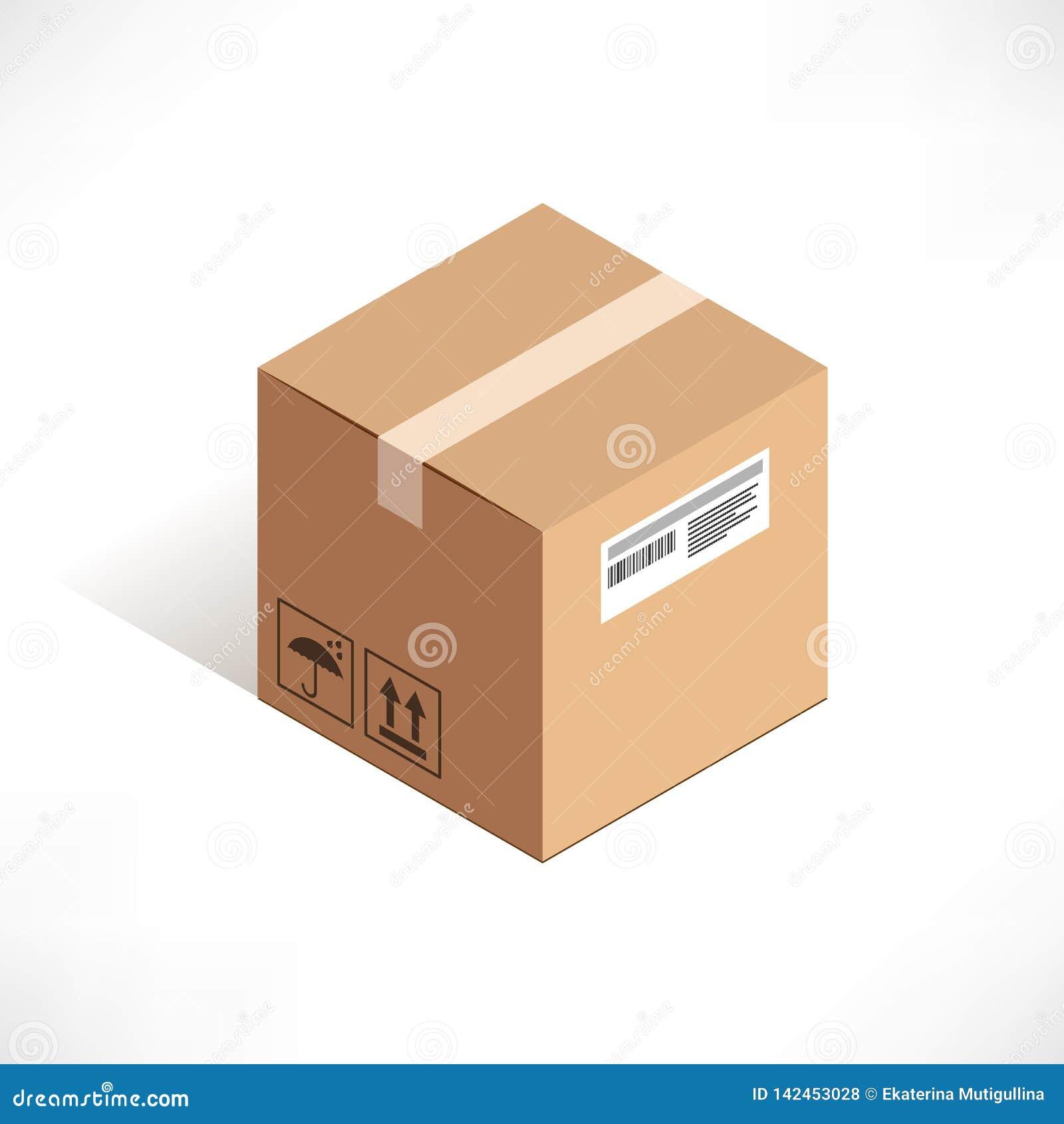 Icône isométrique de boîte de la livraison