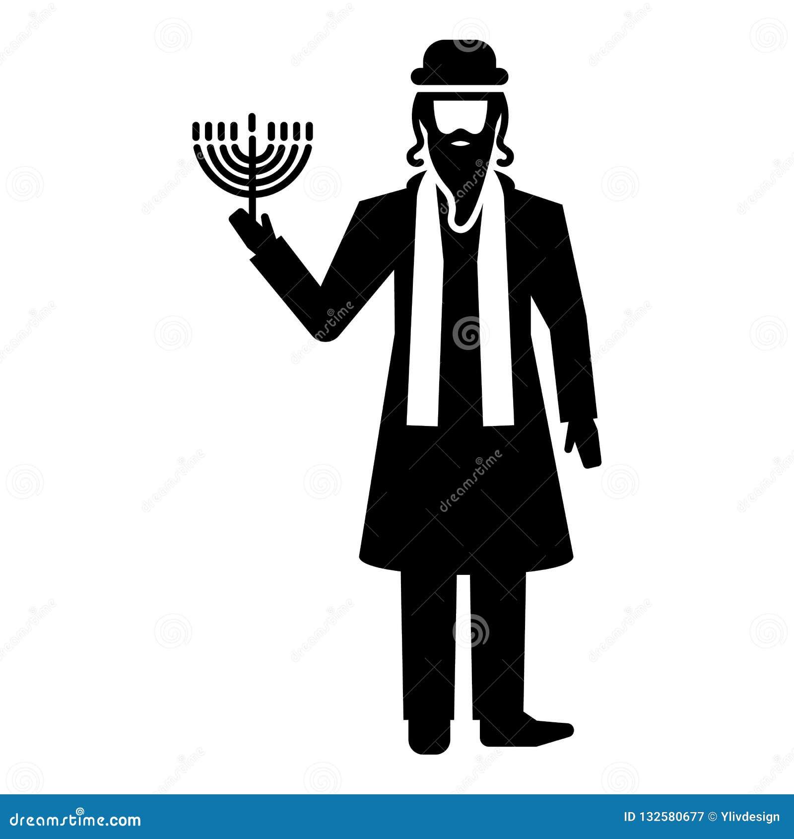 Icône juive d homme, style simple
