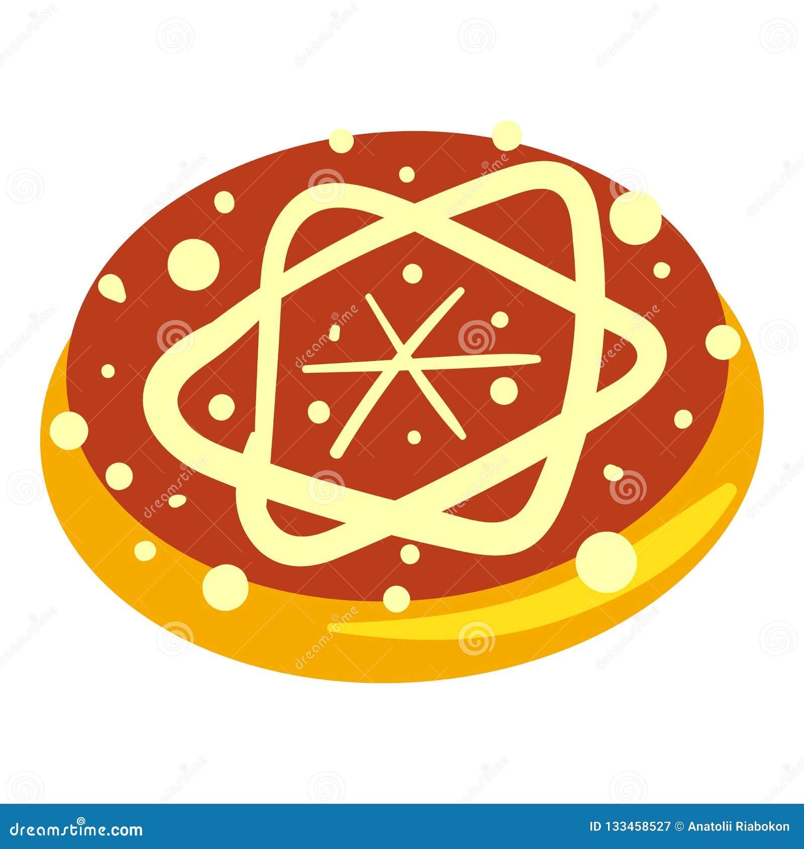 Icône juive de boulangerie, style de bande dessinée