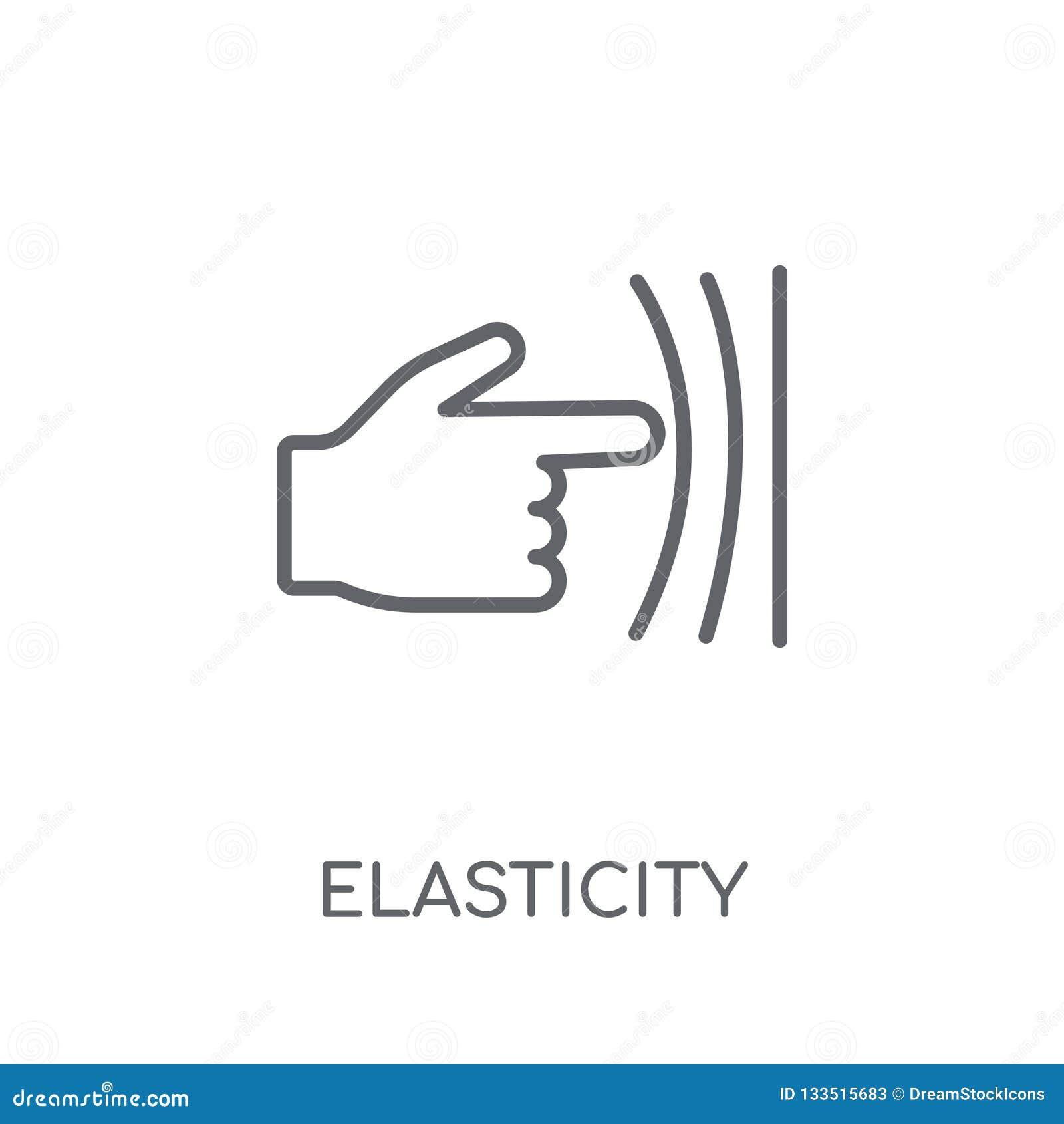 Icône linéaire d élasticité Concept moderne o de logo d élasticité d ensemble