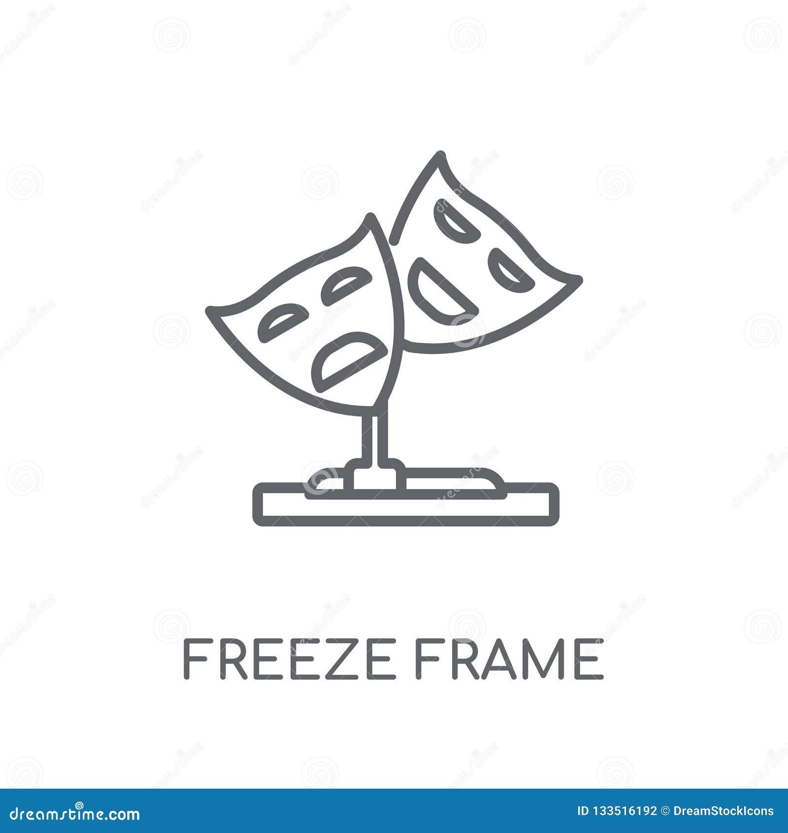 Icône linéaire d image fixe Conce d image fixe de logo d ensemble moderne