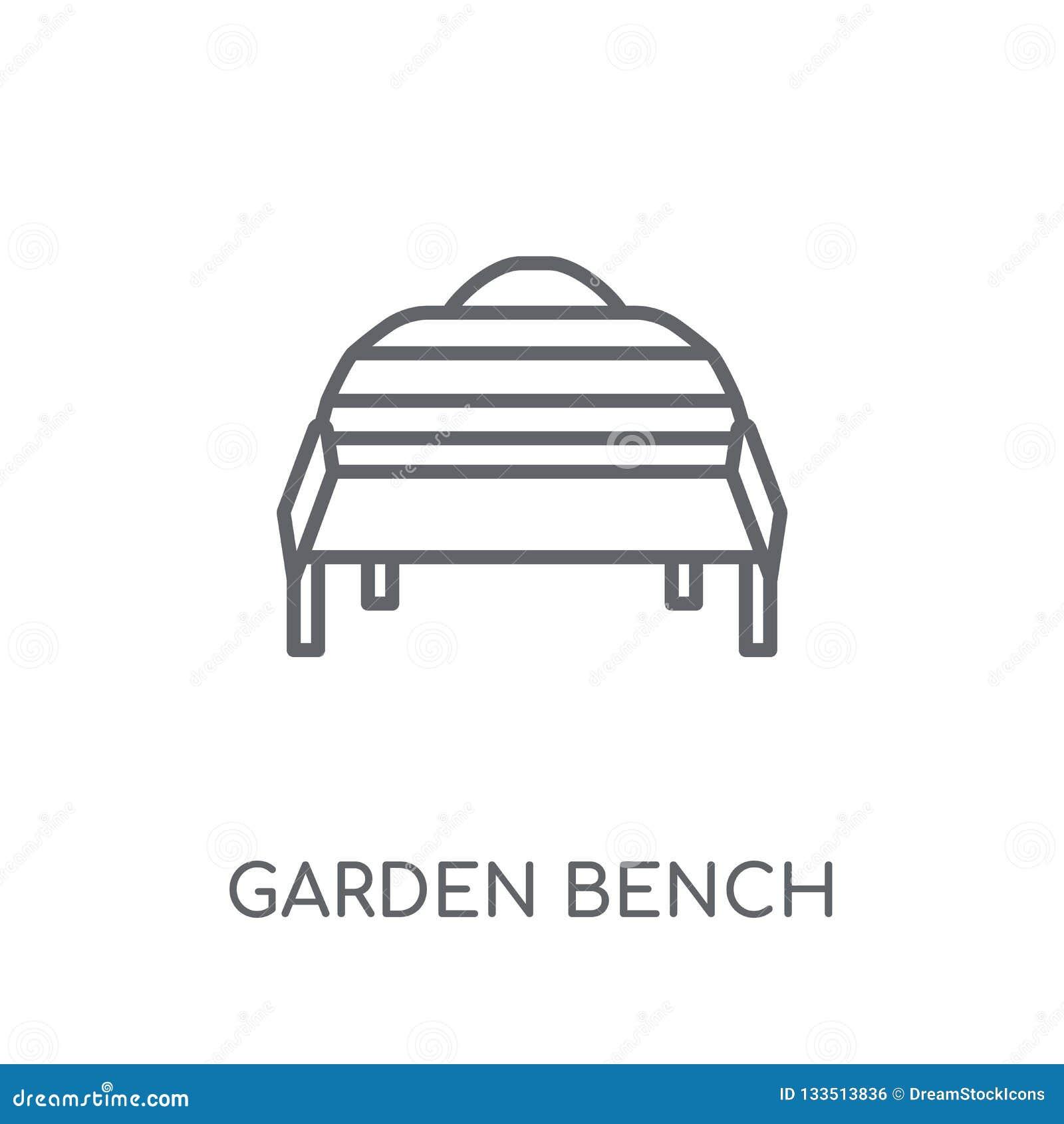 Icône Linéaire De Banc De Jardin Conce Moderne De Logo De ...
