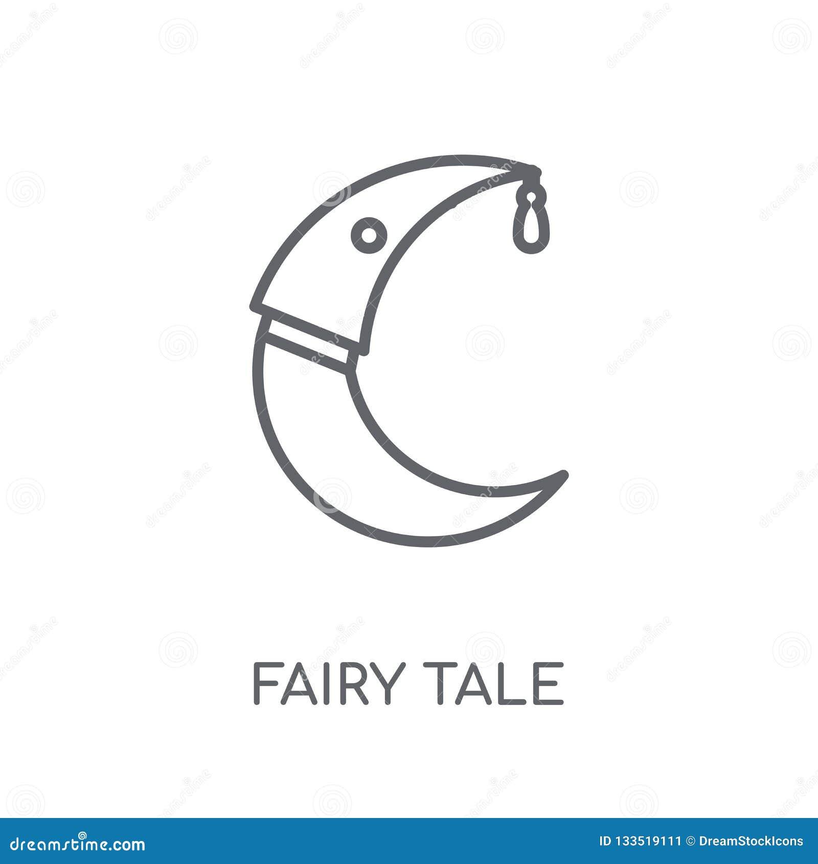 Icône linéaire de conte de fées Concept moderne o de logo de conte de fées d ensemble
