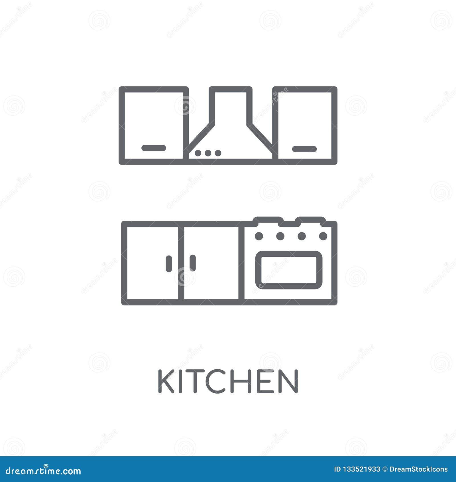 Icône Linéaire De Cuisine Concept Moderne De Logo De Cuisine D ...