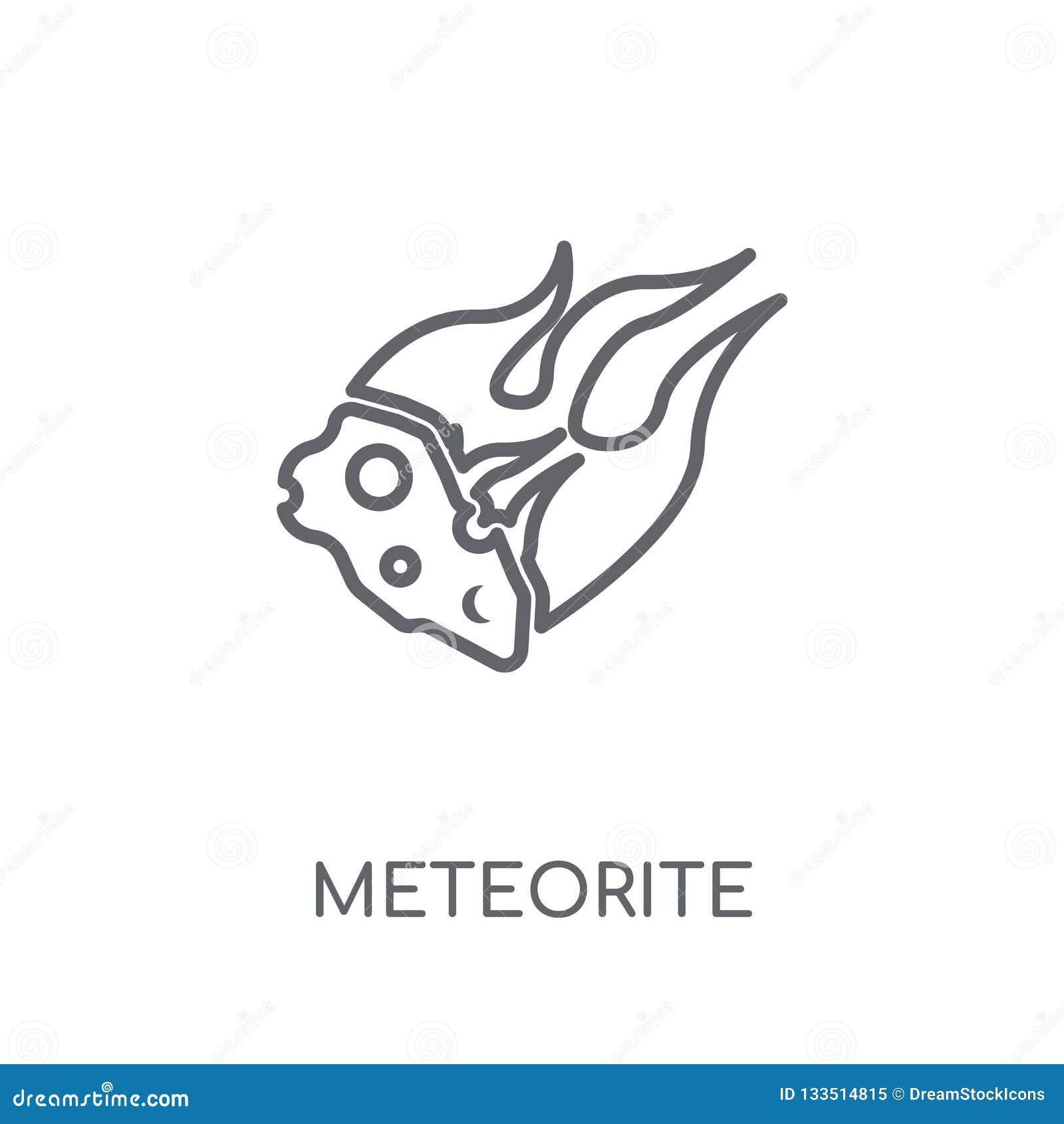 Icône linéaire de météorite Concept moderne de logo de météorite d ensemble dessus