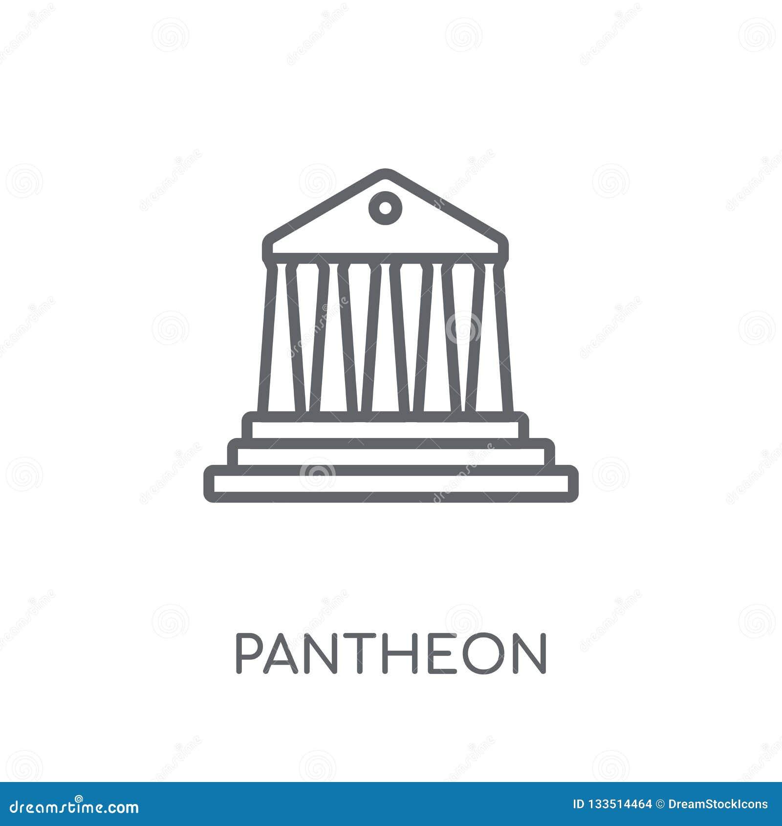Icône linéaire de Panthéon Concept moderne de logo de Panthéon d ensemble sur le wh
