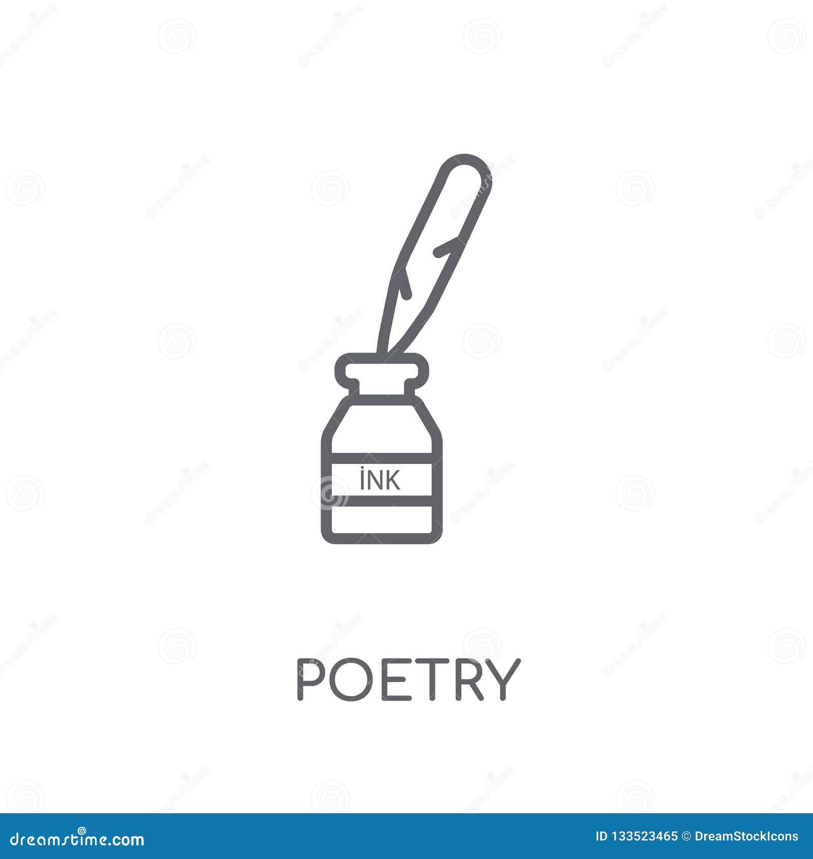 Icône linéaire de poésie Concept moderne de logo de poésie d ensemble sur le blanc