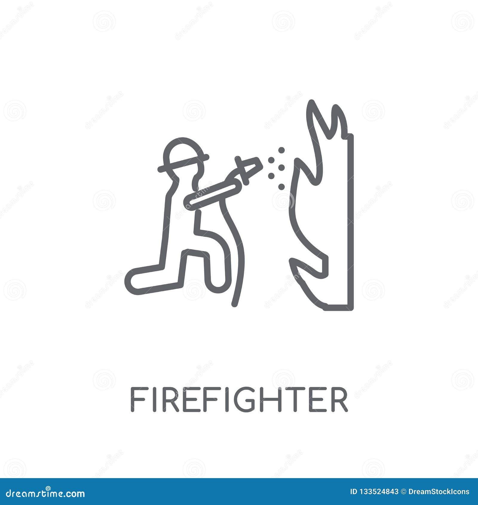 Icône linéaire de sapeur-pompier Concept moderne de logo de sapeur-pompier d ensemble