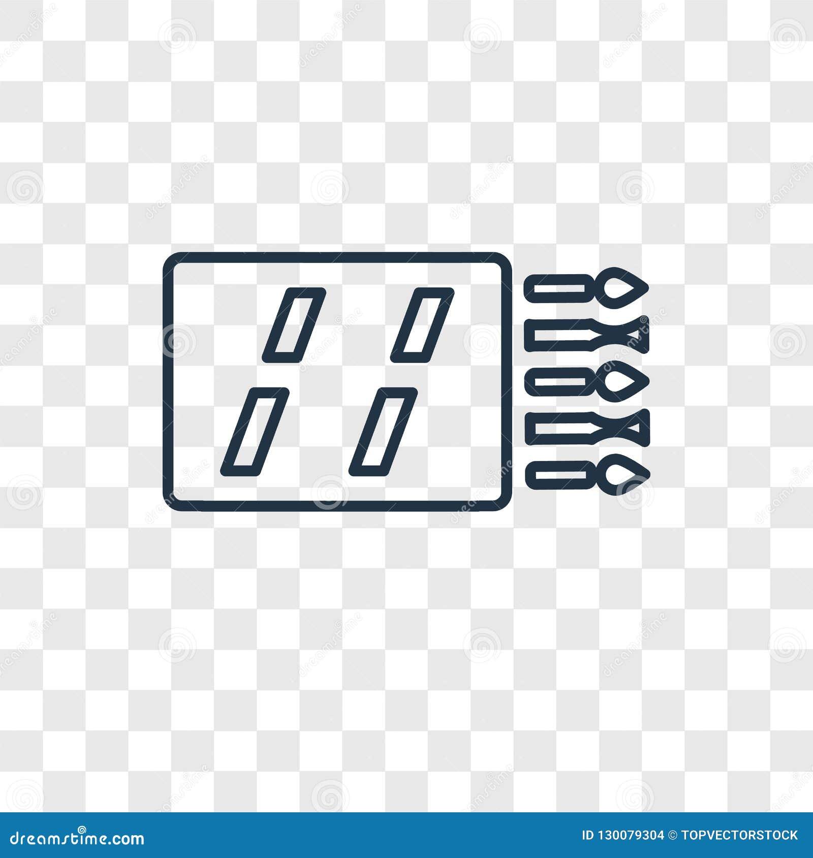 Icône linéaire de vecteur de concept de matchs d isolement sur le backg transparent