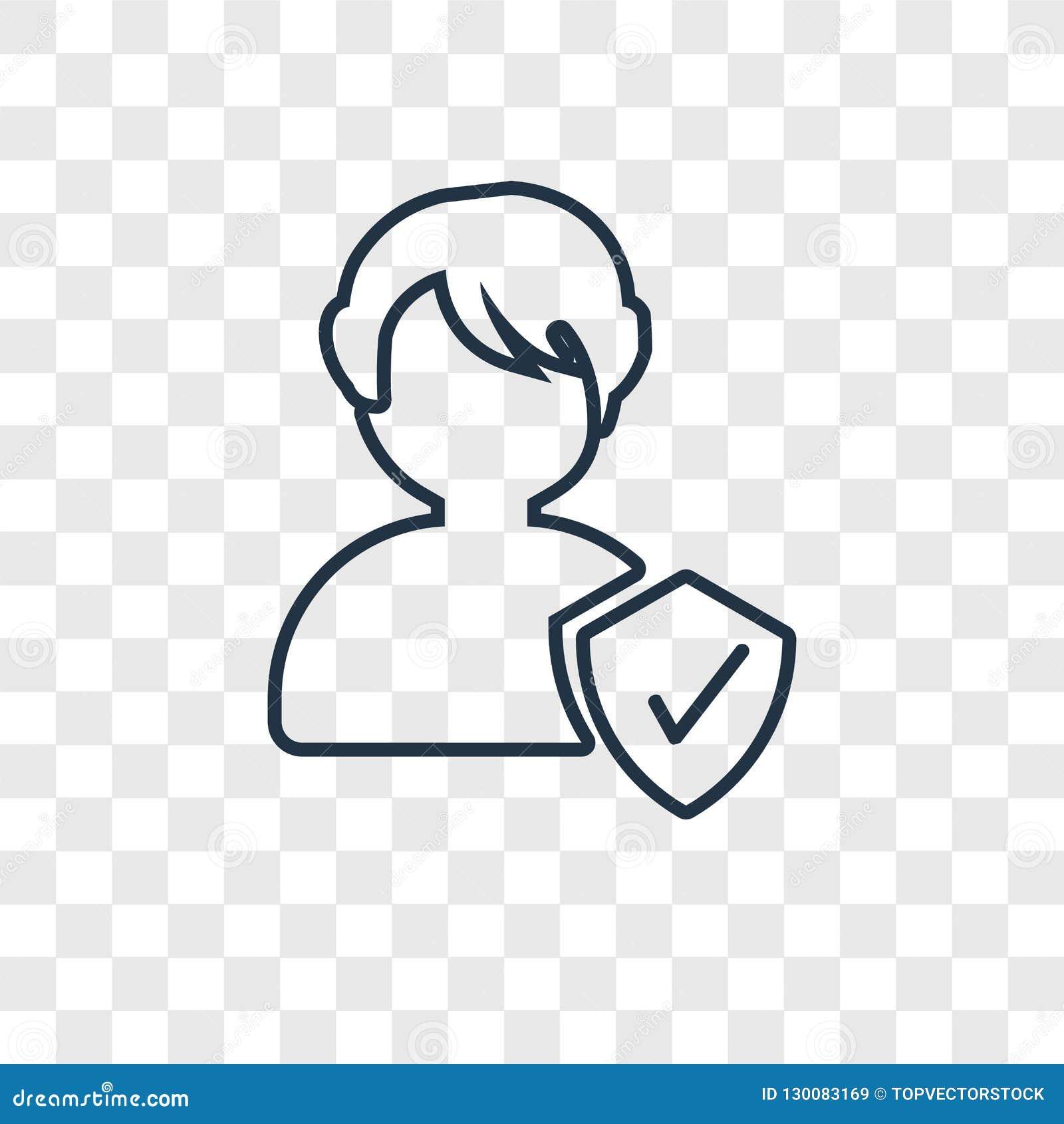 Icône linéaire de vecteur de concept de personne d isolement sur le backgr transparent
