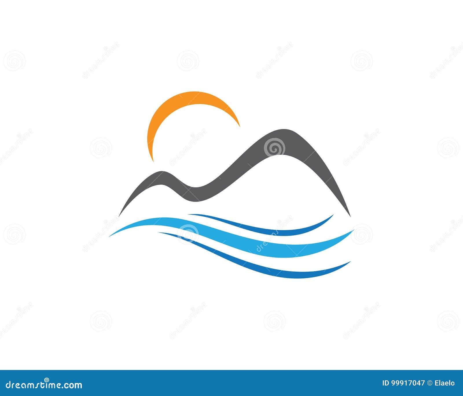 Icone Logo Business Template Vector De Montagne Illustration De