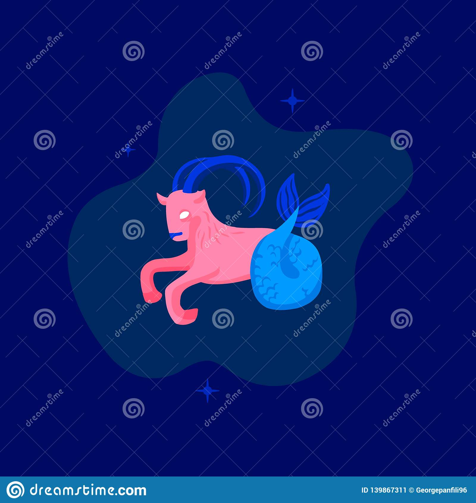 Icône/logo d horoscope Illustration d art