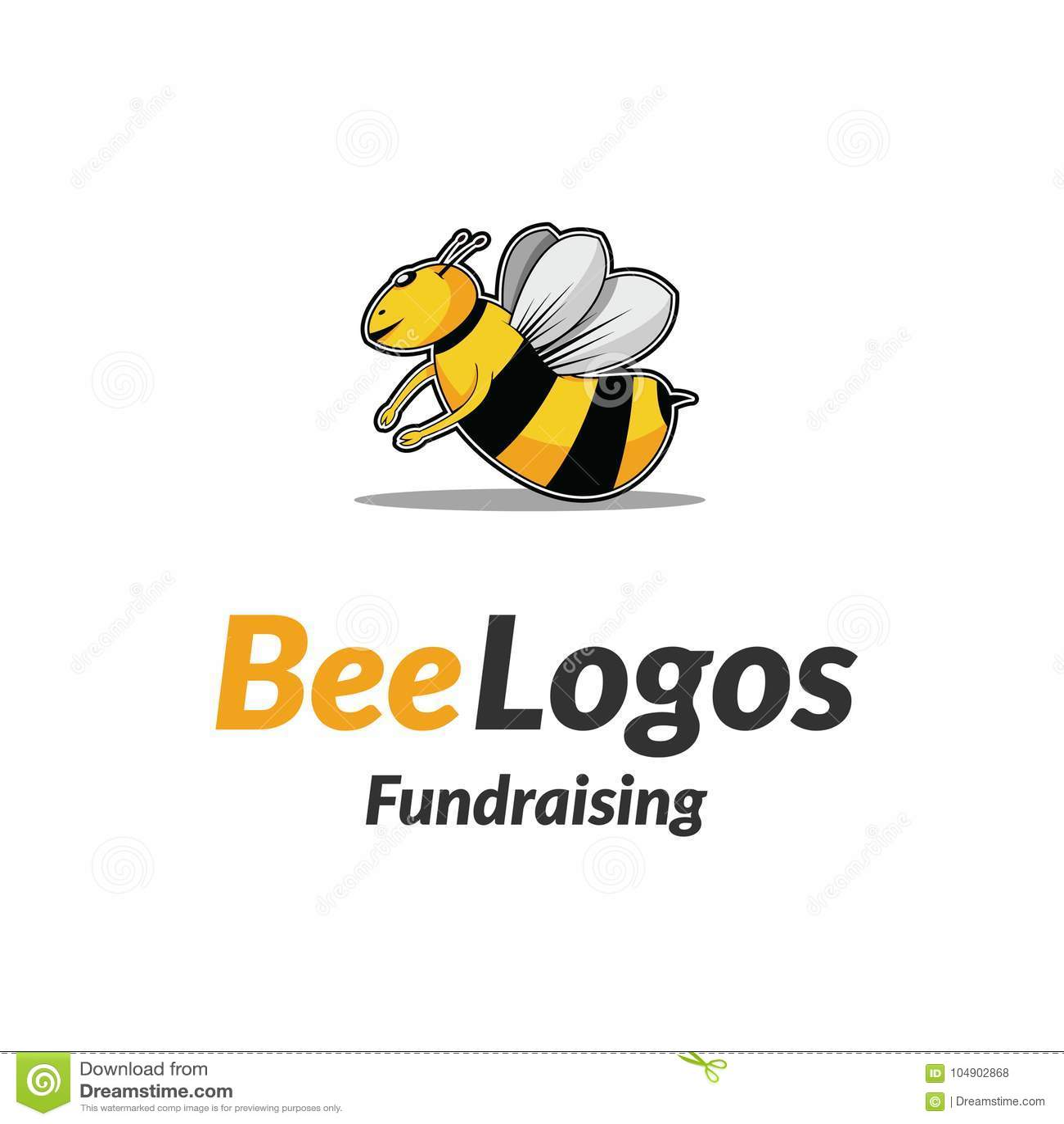 Icône Logo Vector d abeille