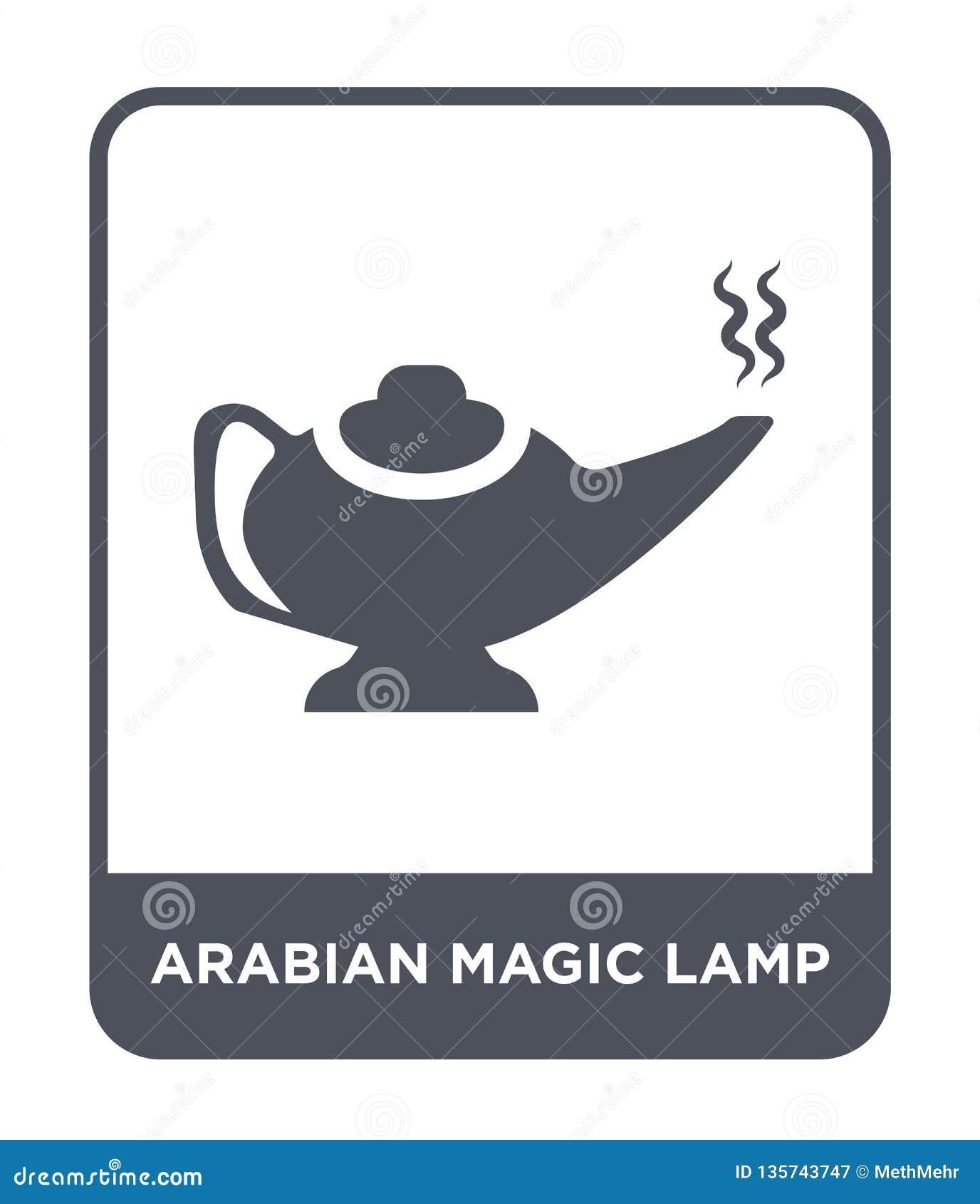 Icône magique Arabe de lampe dans le style à la mode de conception icône magique Arabe de lampe d isolement sur le fond blanc vec