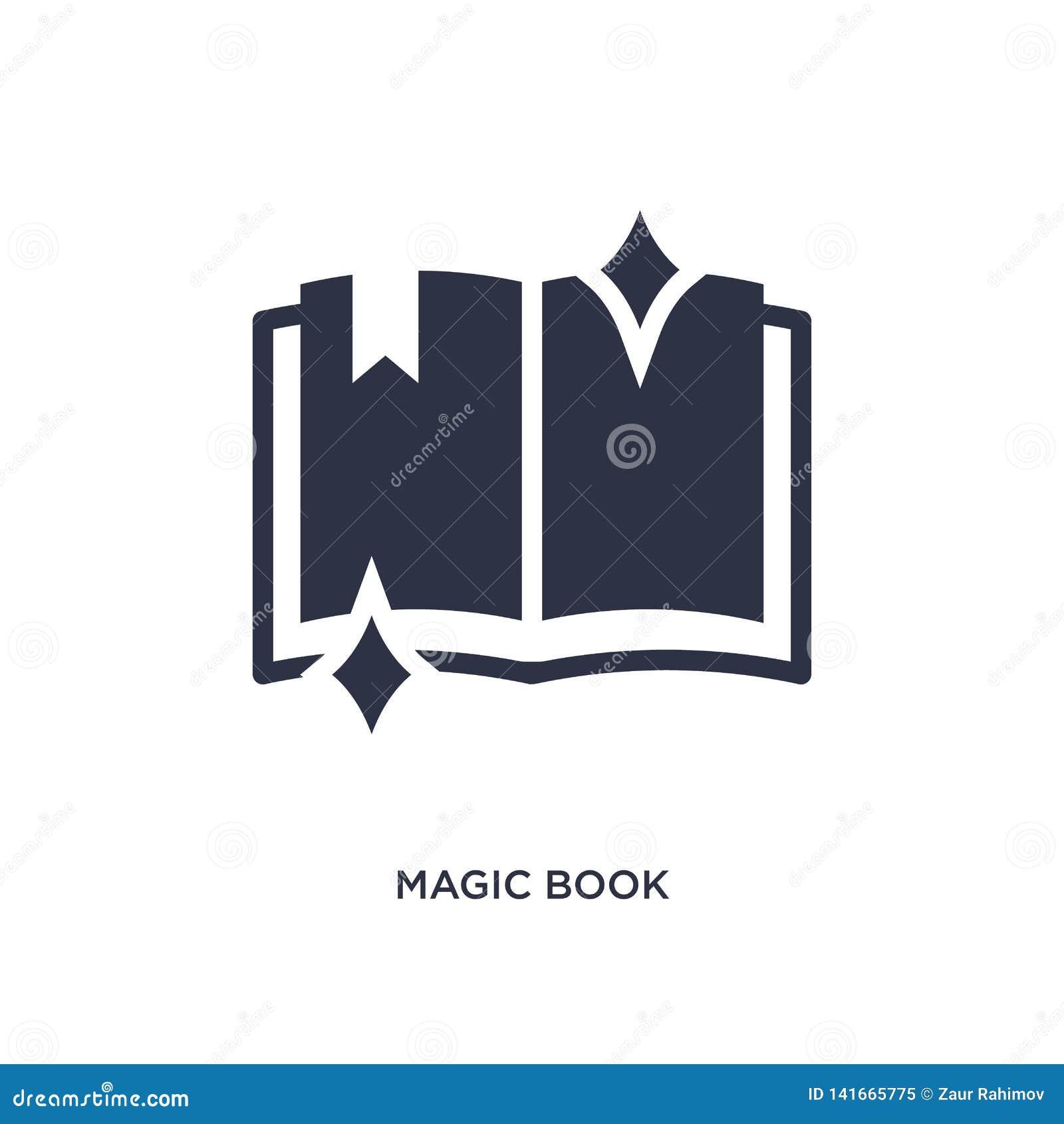 Icône magique de livre sur le fond blanc Illustration simple d élément de concept magique