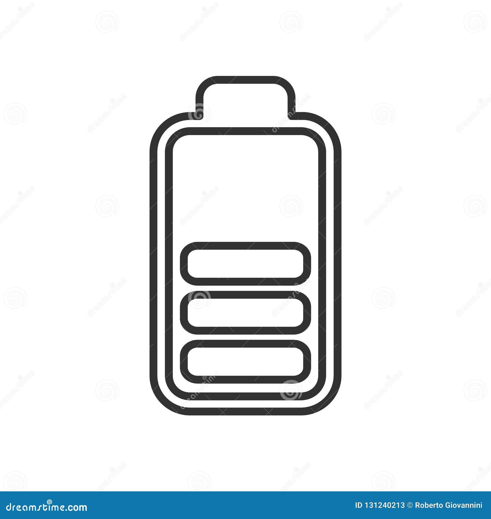 Icône moyenne d ensemble d indicateur d énergie de batterie