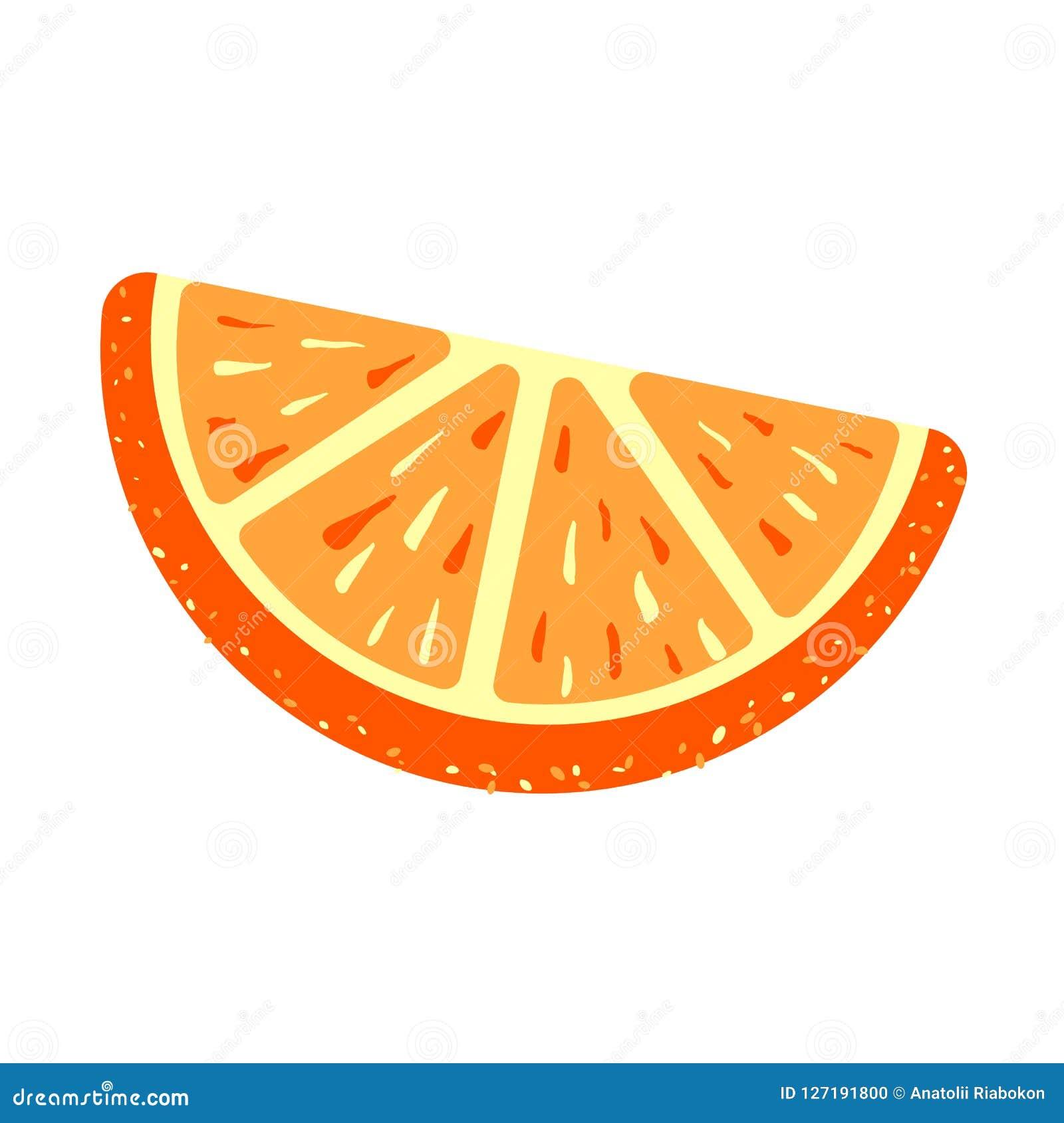 Icône orange de gelée de sucre, style de bande dessinée