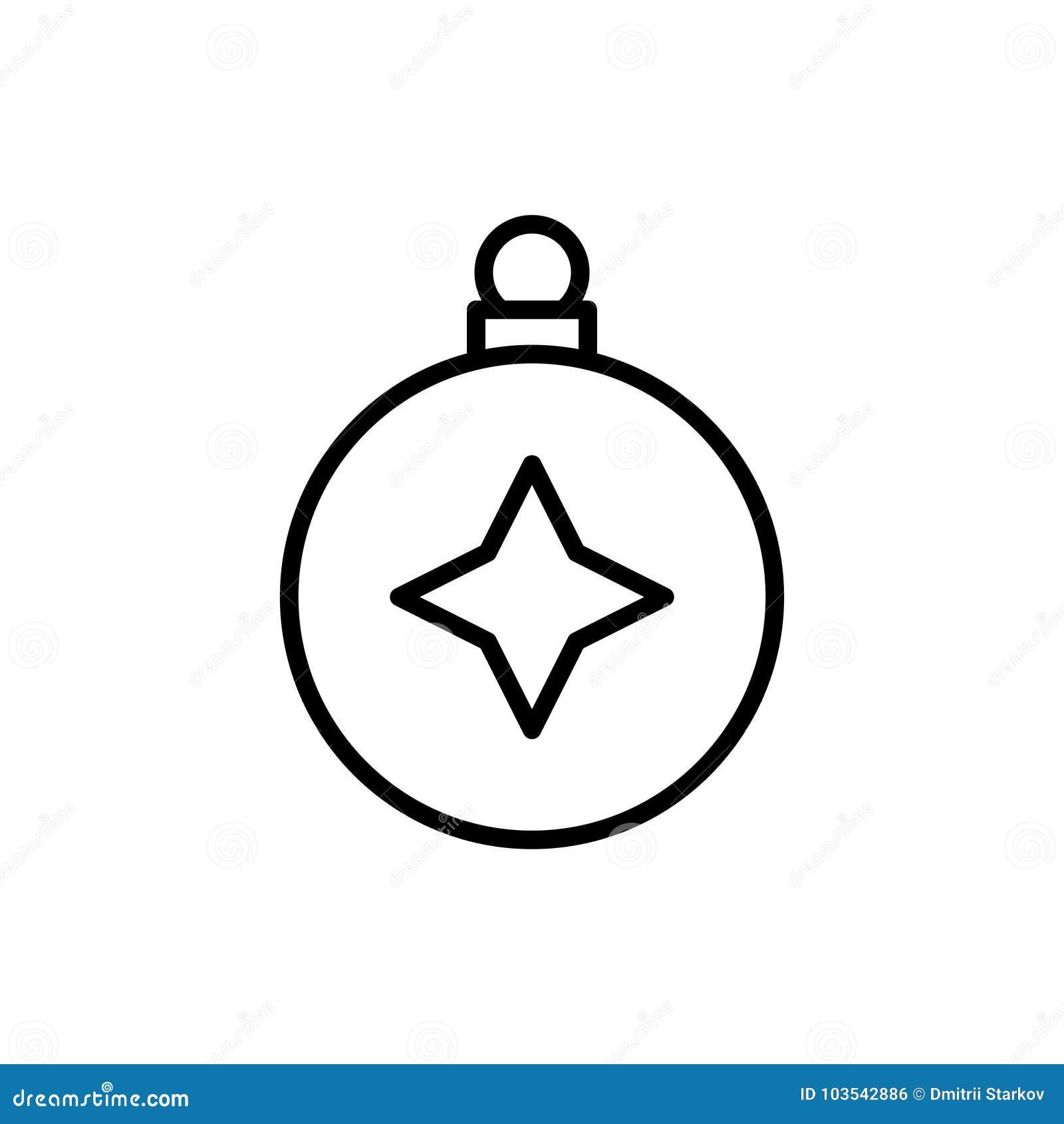 Icône Ou Logo De La Meilleure Qualité De Boule De Noël Dans La