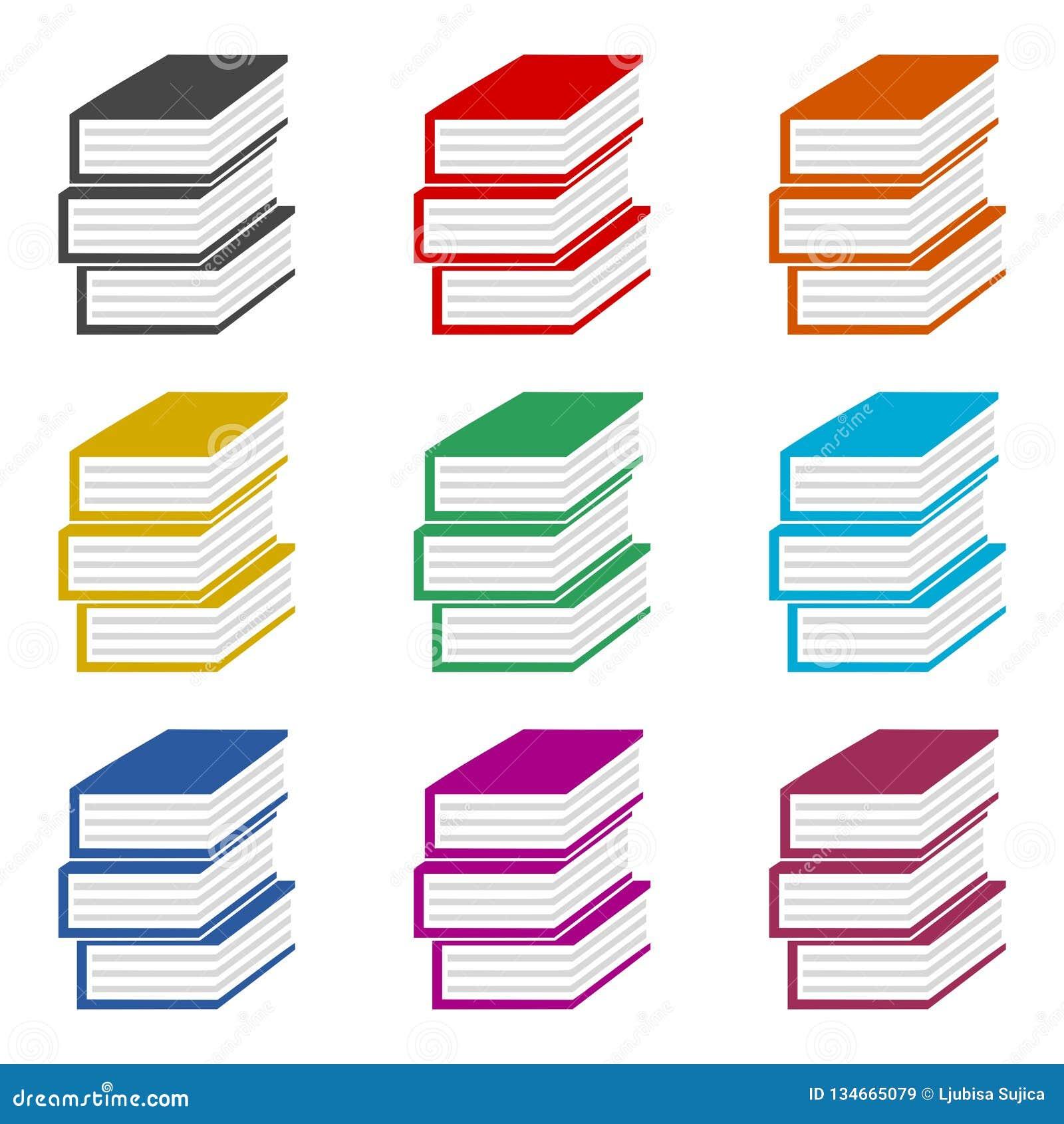 Icone Ou Logo De Livre Dans Le Style Plat Ensemble De