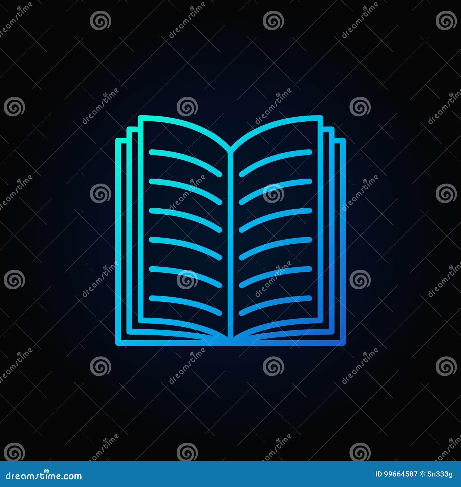 Icone Ouverte De Livre De Bleu Illustration De Vecteur