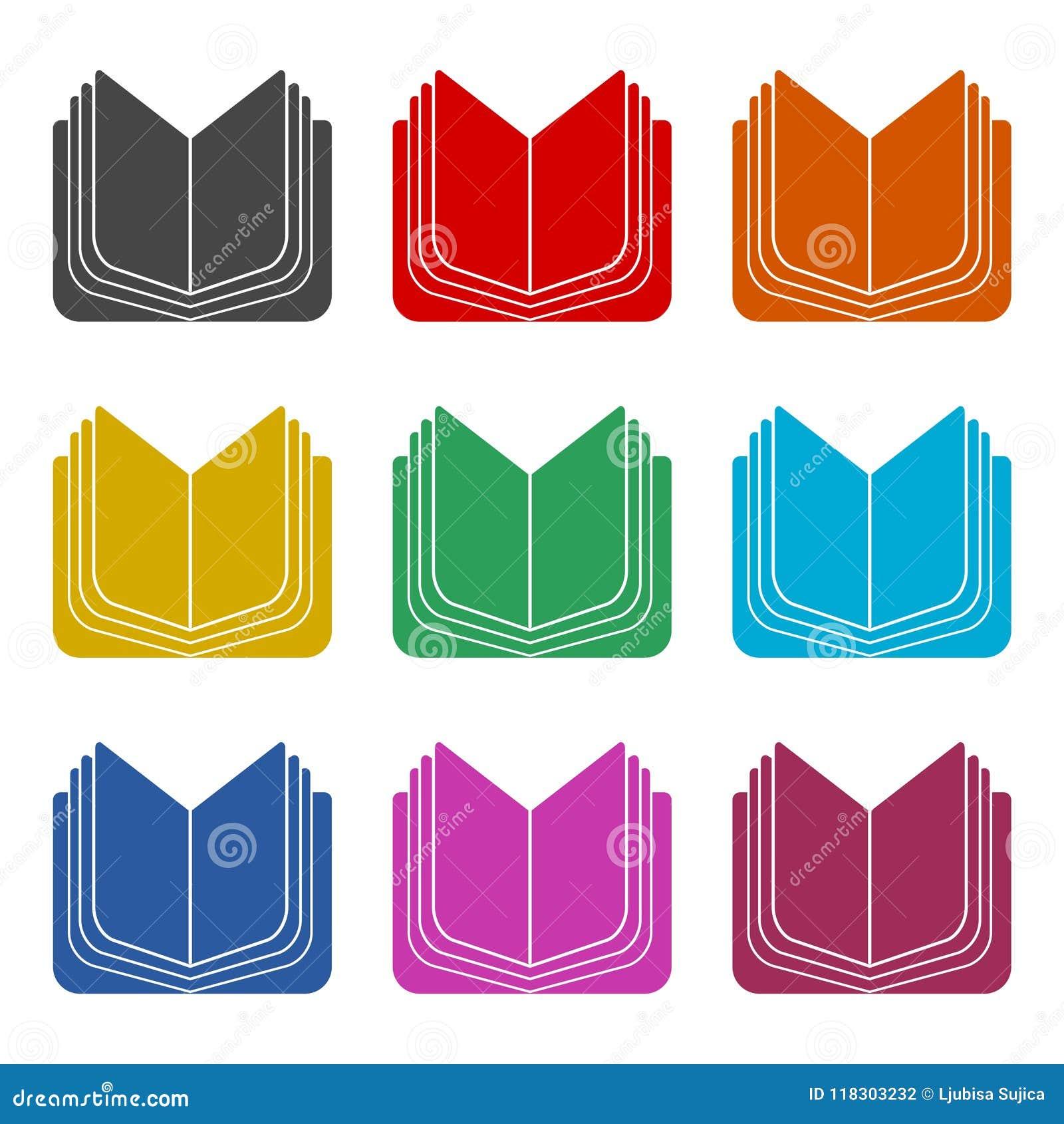 Icone Ouverte De Livre Icones De Couleur Reglees