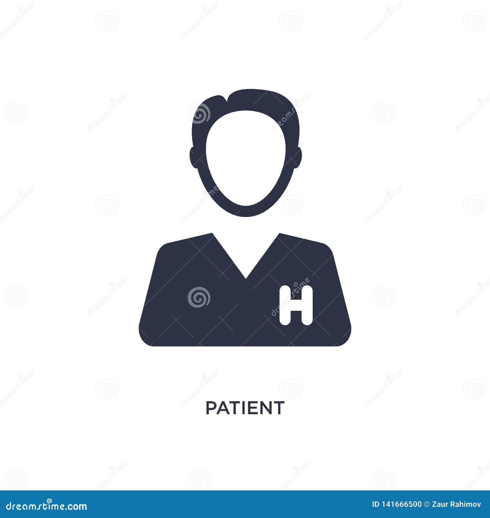 Icône patiente sur le fond blanc Illustration simple d élément de concept médical