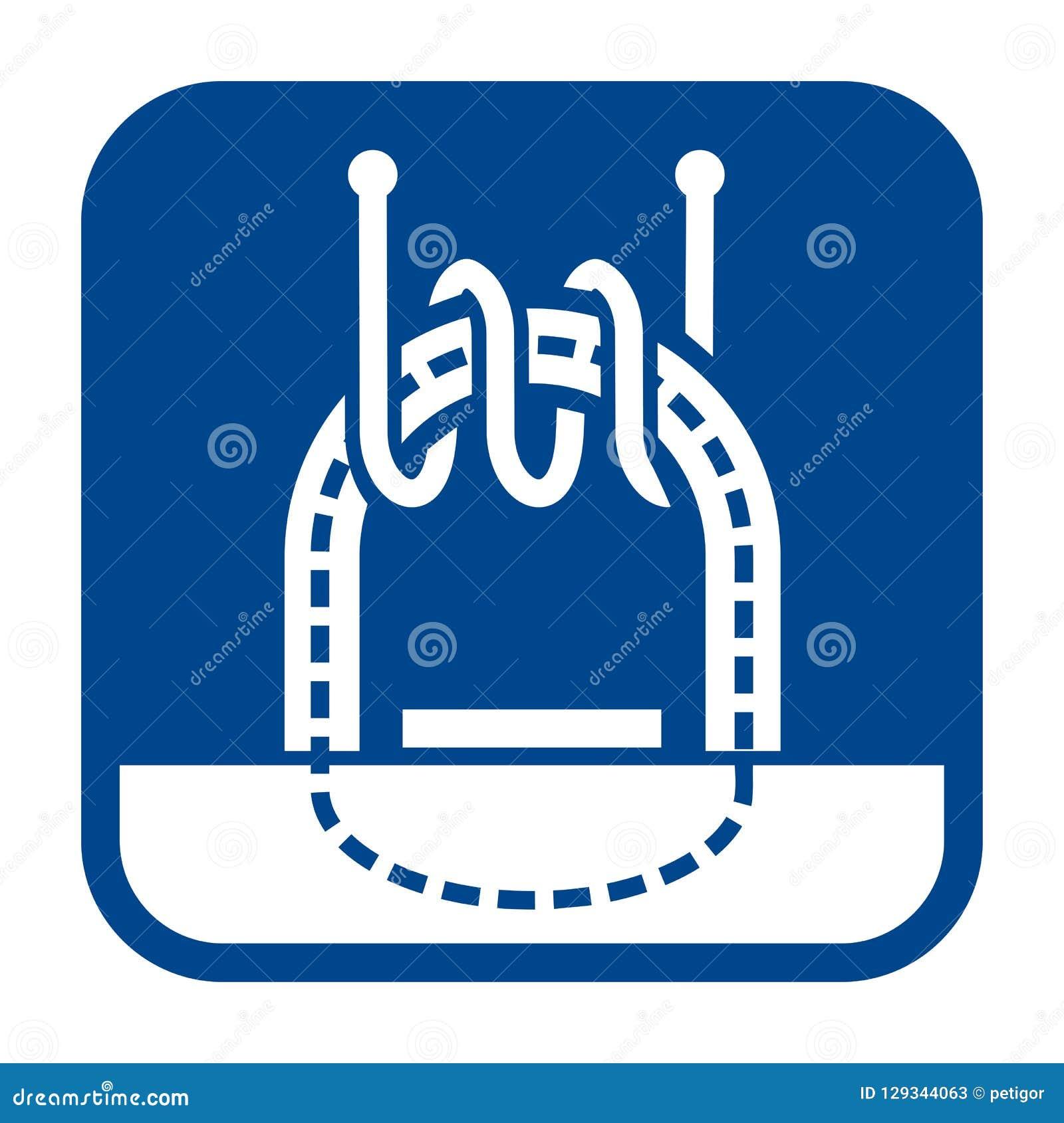 Icône plate de conception de vecteur de l essai électromagnétique